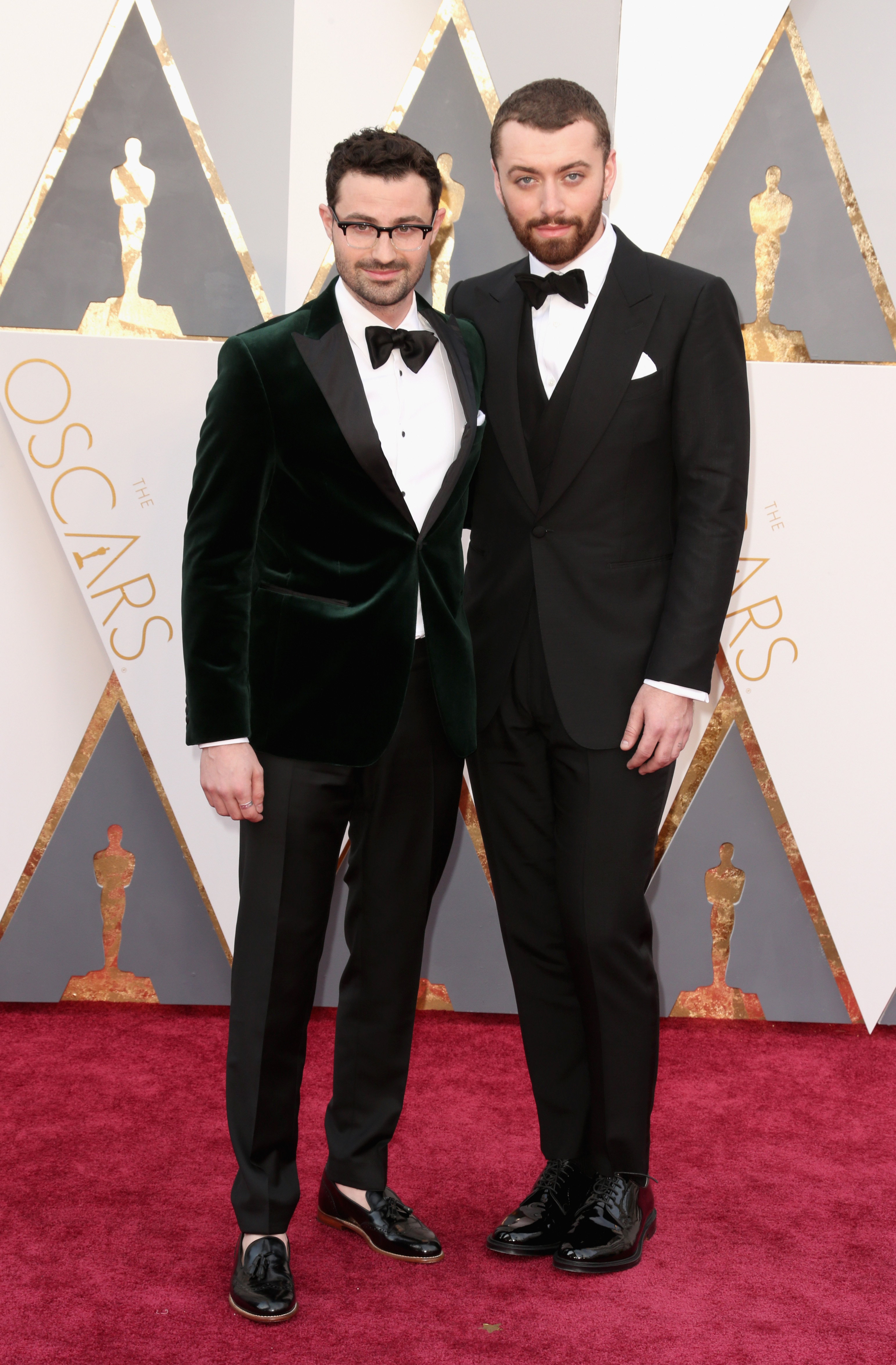 Jimmy Napes and Sam Smith attend the 88th Annual Academy Awards on Feb. 28, 2016 in Hollywood, Calif.