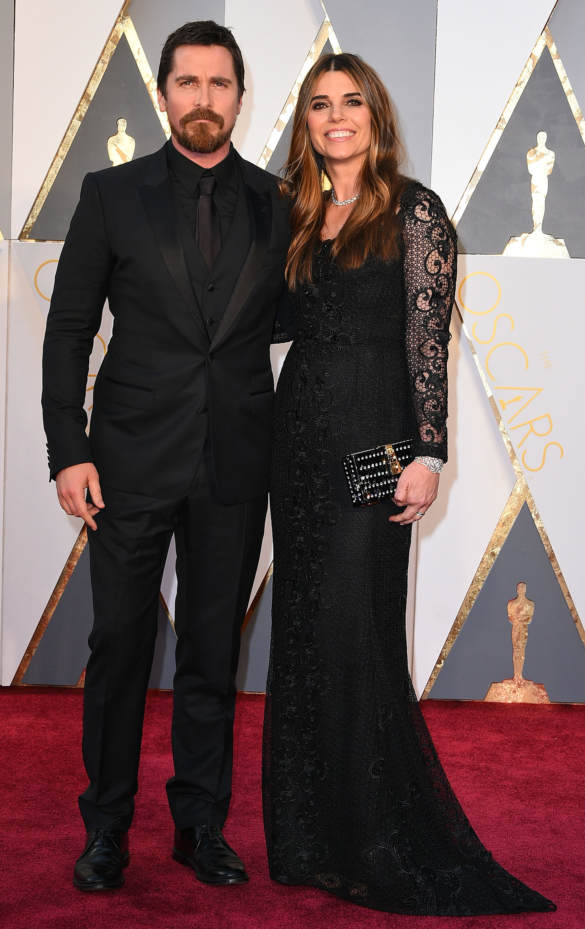 Christian Bale and Sibi Blazic attend the 88th Annual Academy Awards on Feb. 28, 2016 in Hollywood, Calif.