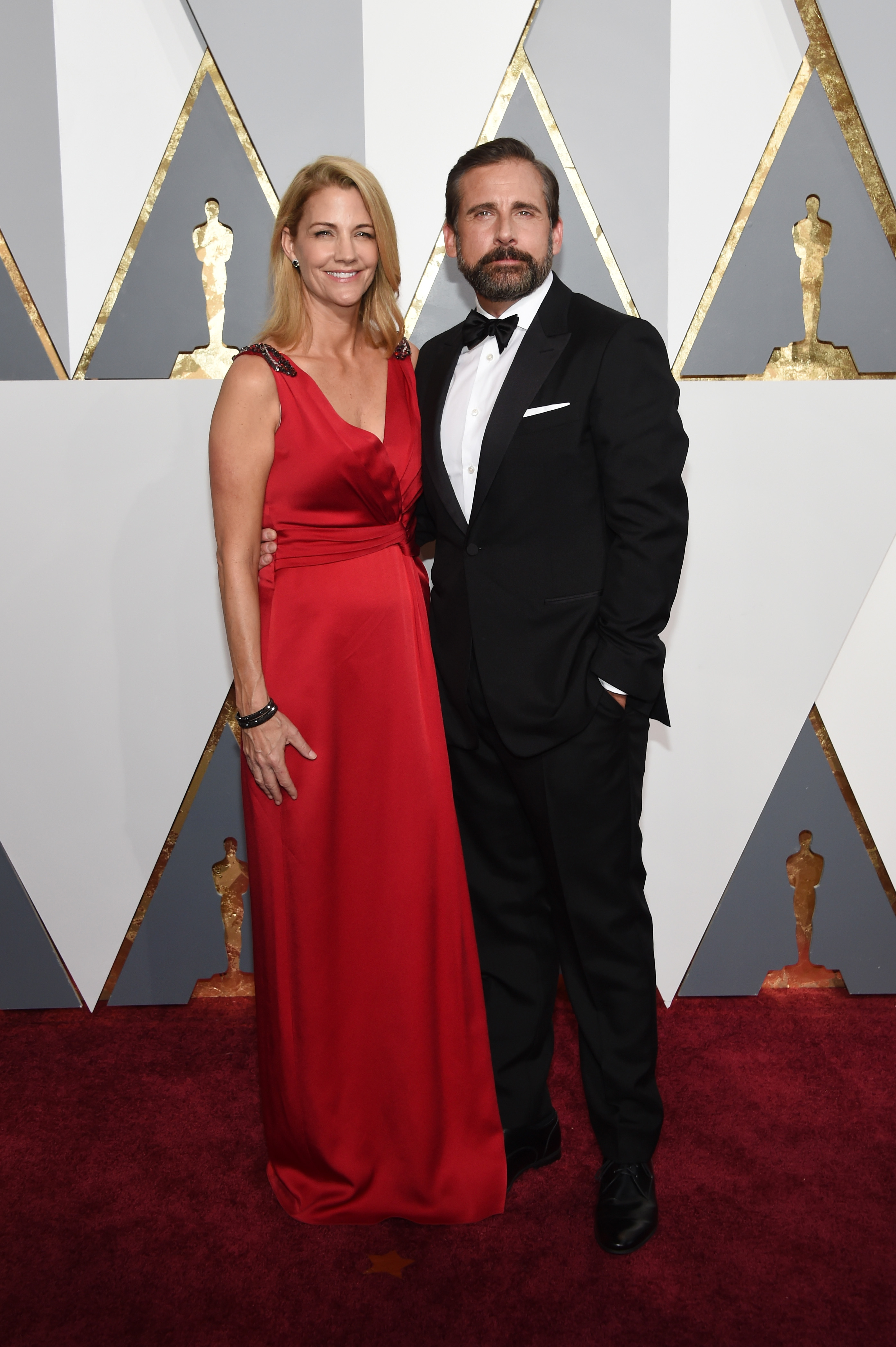 Nancy Carell and Steve Carell attend the 88th Annual Academy Awards on Feb. 28, 2016 in Hollywood, Calif.
