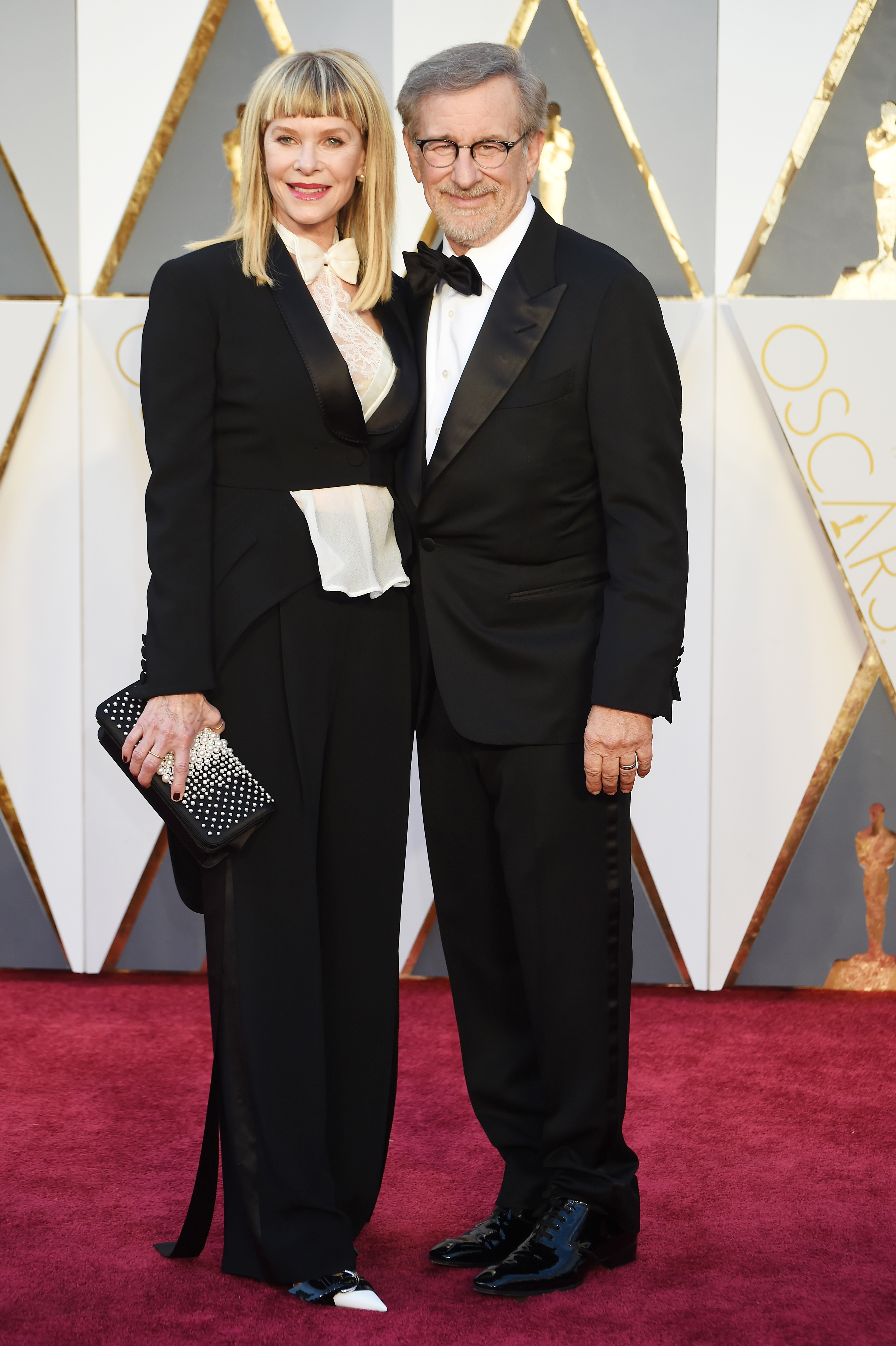Kate Capshaw and Steven Spielberg attend the 88th Annual Academy Awards on Feb. 28, 2016 in Hollywood, Calif.