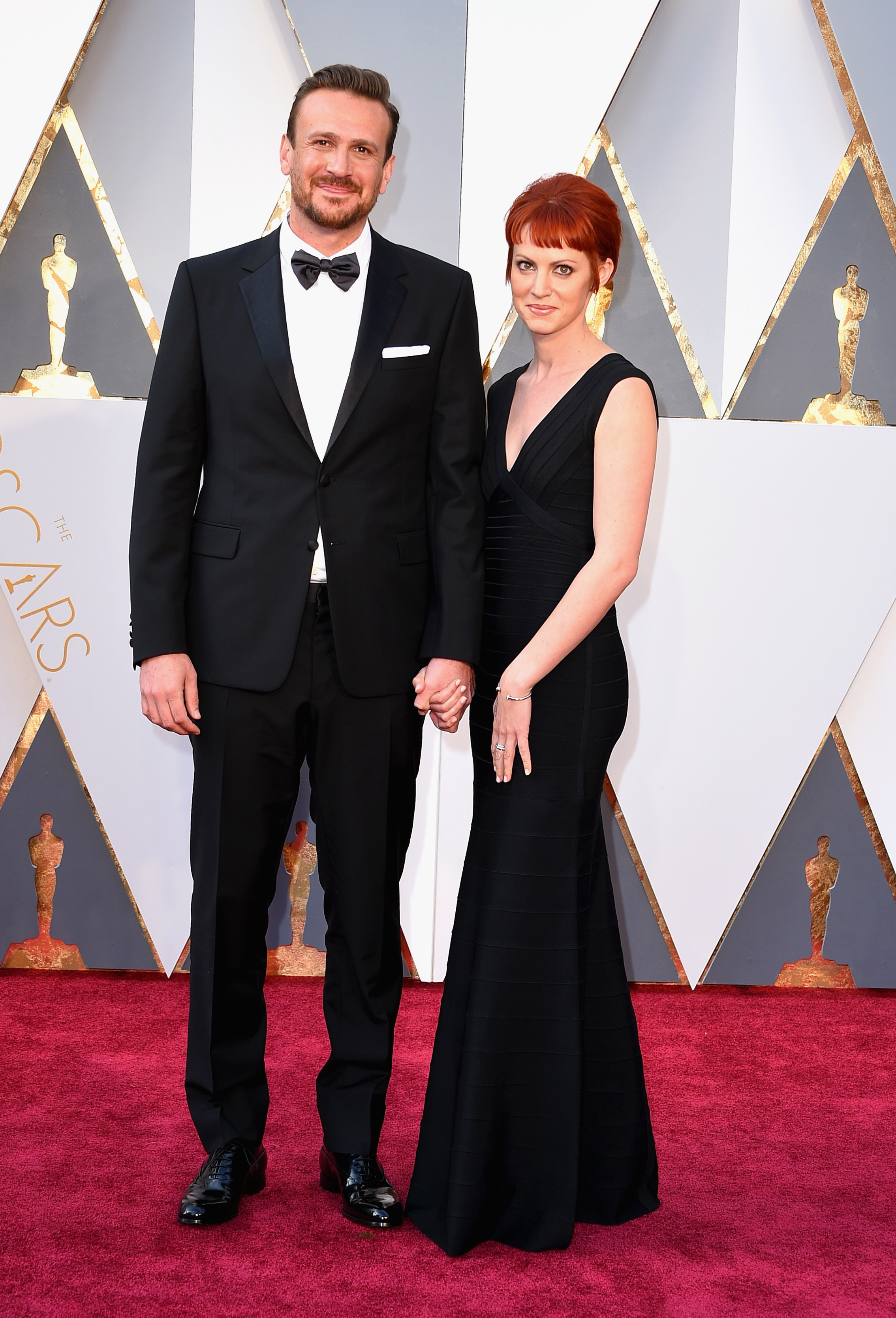 Jason Segel and Alexis Mixter attend the 88th Annual Academy Awards on Feb. 28, 2016 in Hollywood, Calif.