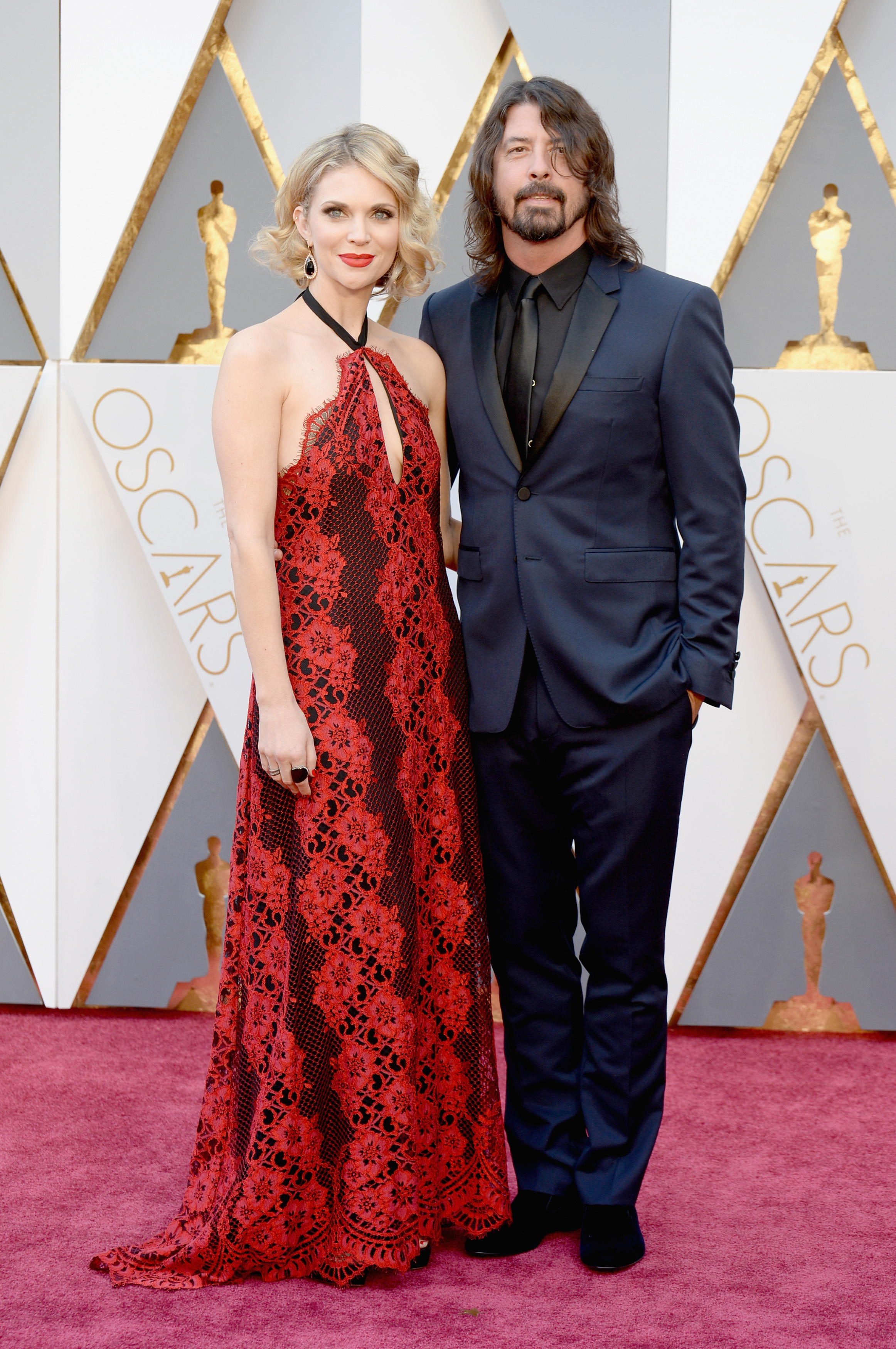 Jordyn Blum and Dave Grohl attend the 88th Annual Academy Awards on Feb. 28, 2016 in Hollywood, Calif.