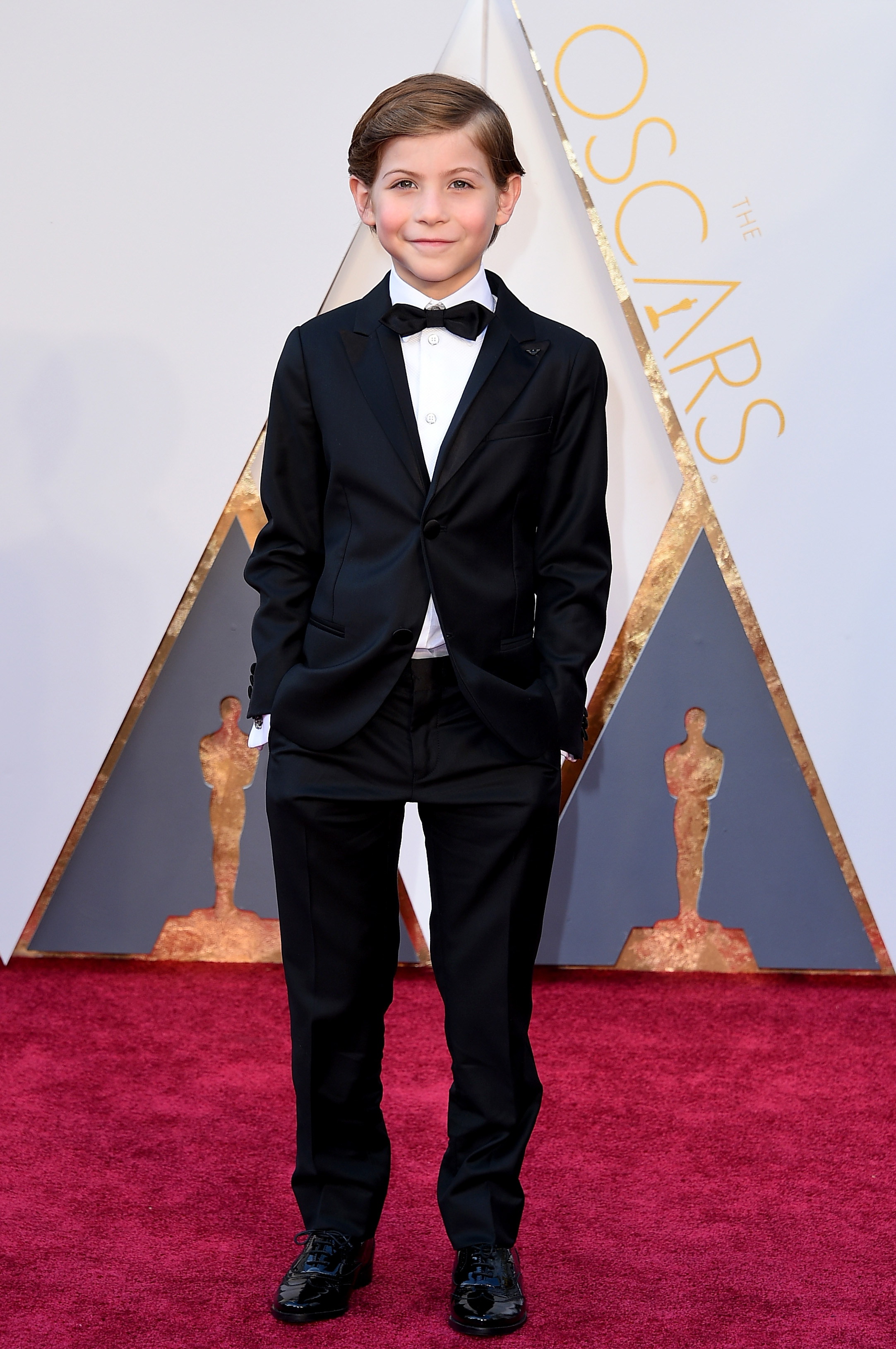 Jacob Tremblay attends the 88th Annual Academy Awards on Feb. 28, 2016 in Hollywood, Calif.