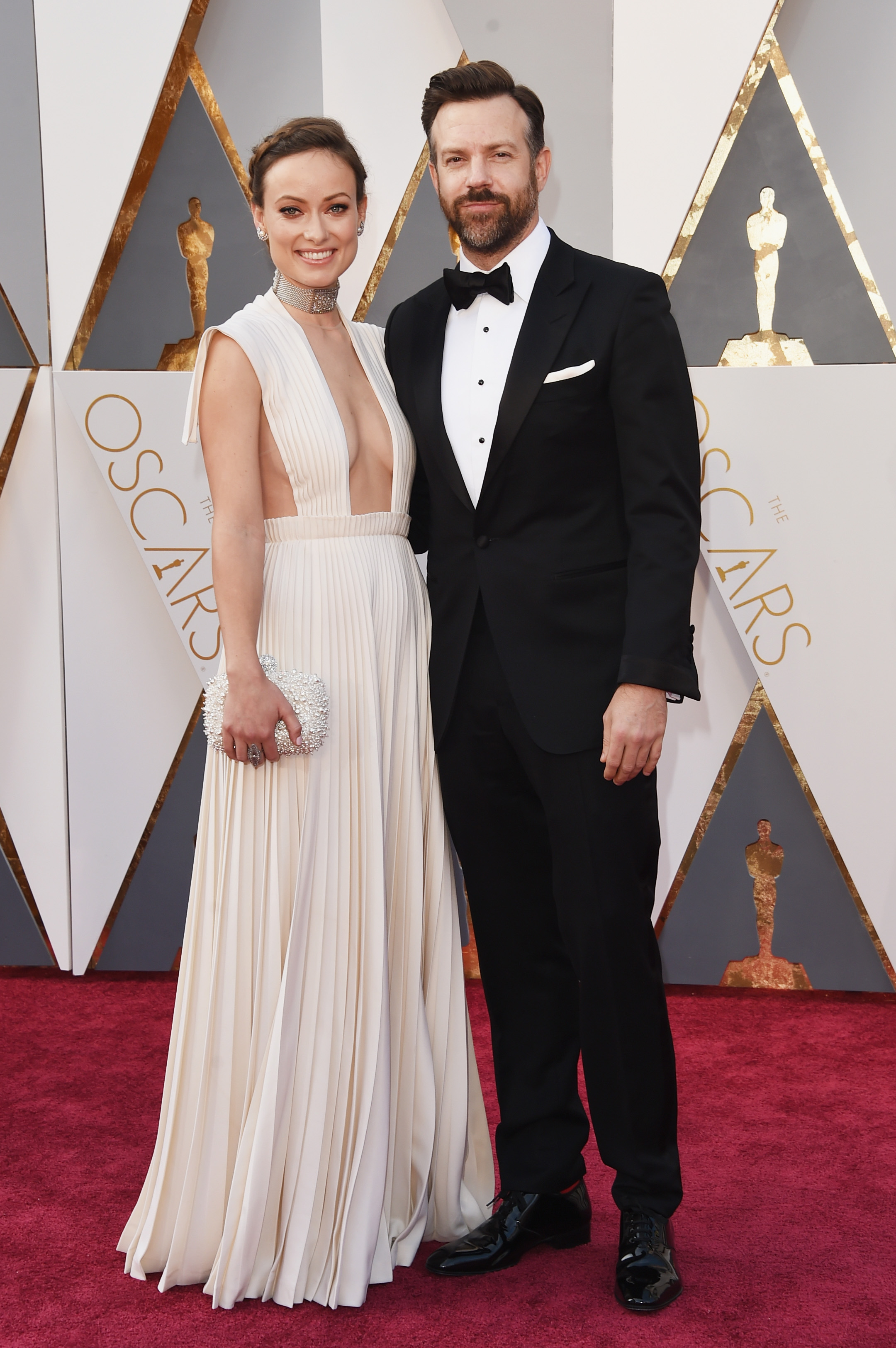 Olivia Wilde and Jason Sudeikis attend the 88th Annual Academy Awards on Feb. 28, 2016 in Hollywood, Calif.