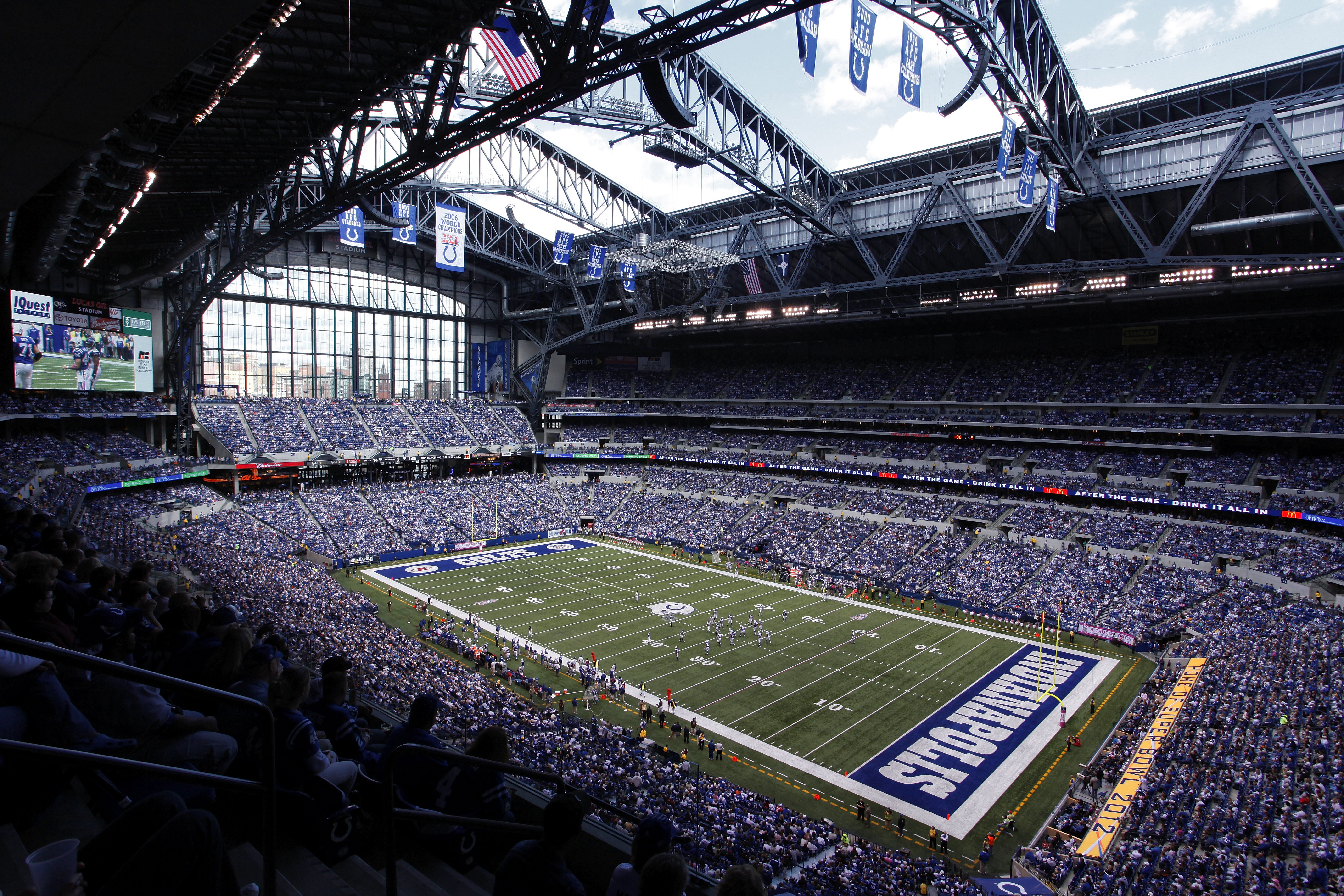 Lucas Oil Stadium, located in Indianapolis, is home to the Indianapolis Colts. The stadium, which seats 67,000 people, opened in 2008 and is also used by the NCAA for men's and women's football and basketball tournaments.