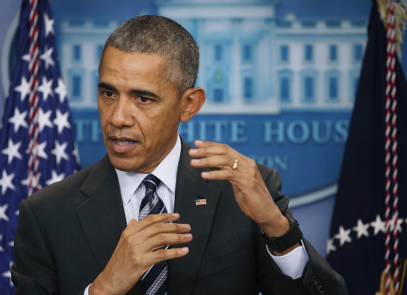 President Barack Obama discusses the latest unemployment rate within the U.S. economy in the Brady Press Briefing Room at the White House in Washington, D.C., Feb. 5, 2016.
