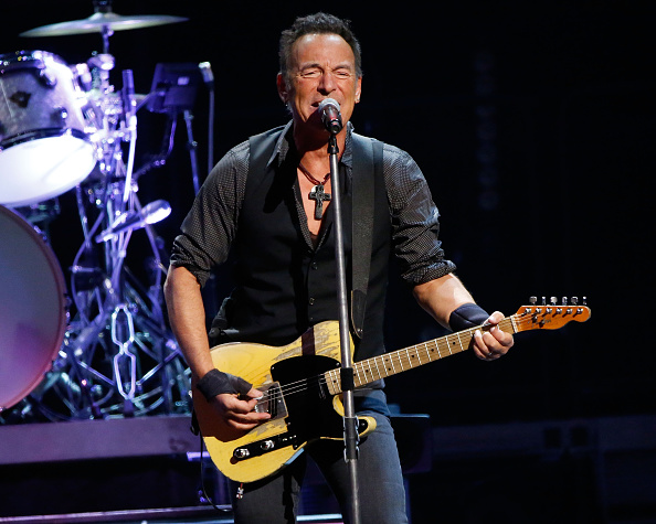 Bruce Springsteen performs at the Times-Union Center on February 8, 2016 in Albany, New York.