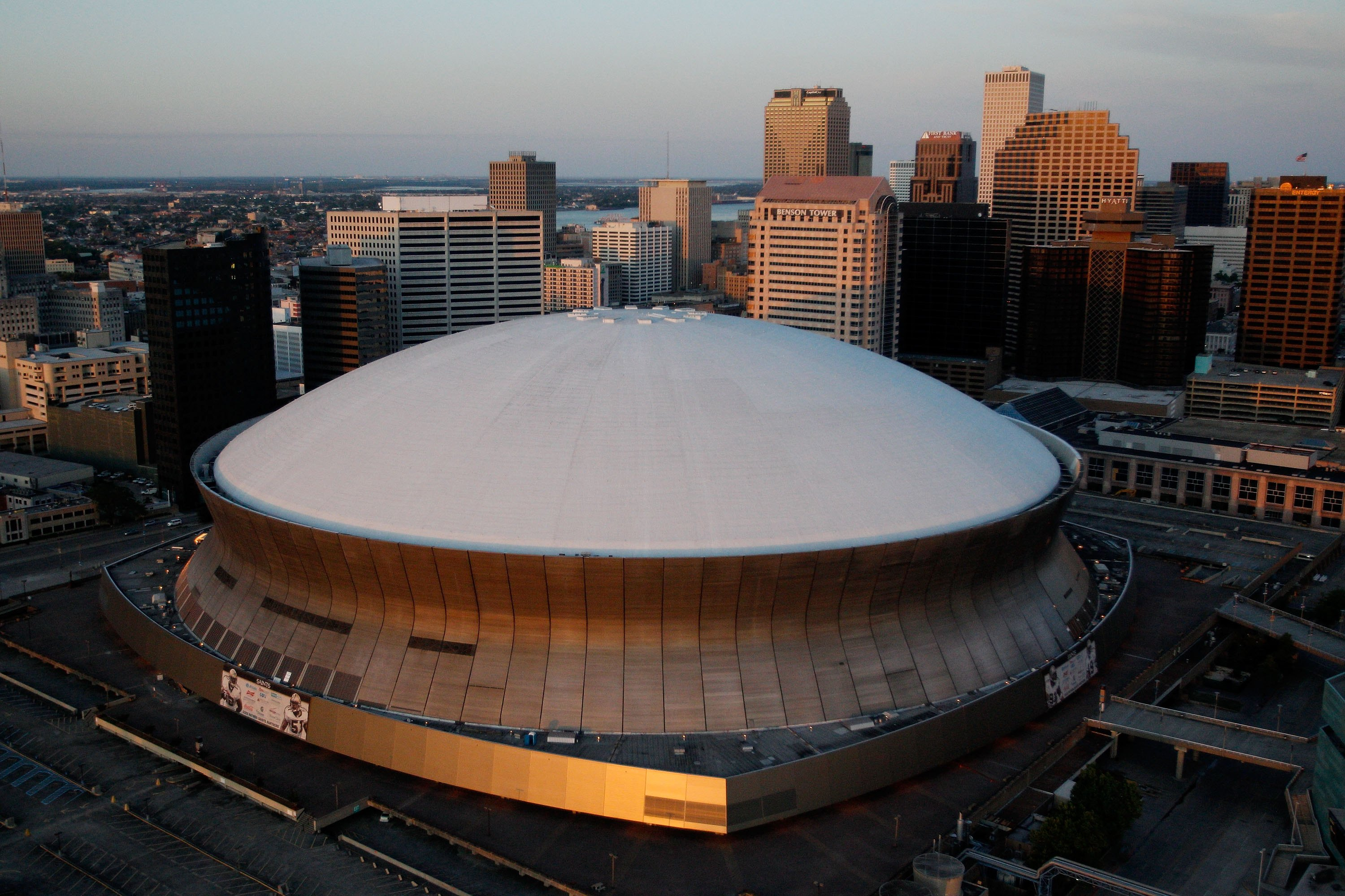 The Superdome has been home to the Super Bowl six times, more than any other stadium. In 2005 it infamously became shelter to thousands of locals displaced by Hurricane Katrina. The stadium has been the home of the New Orleans Saints since it first opened in 1975.