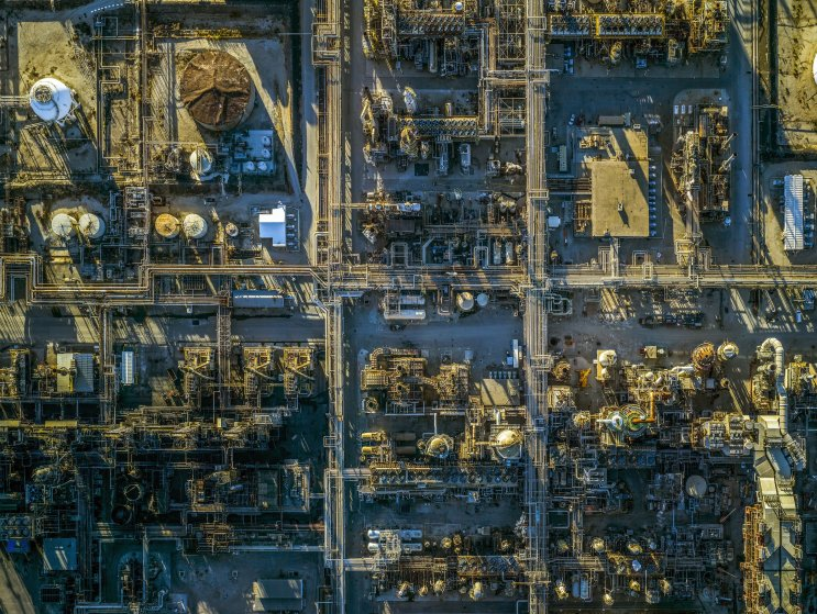Refineries and ports aerial photographs, America - 2016