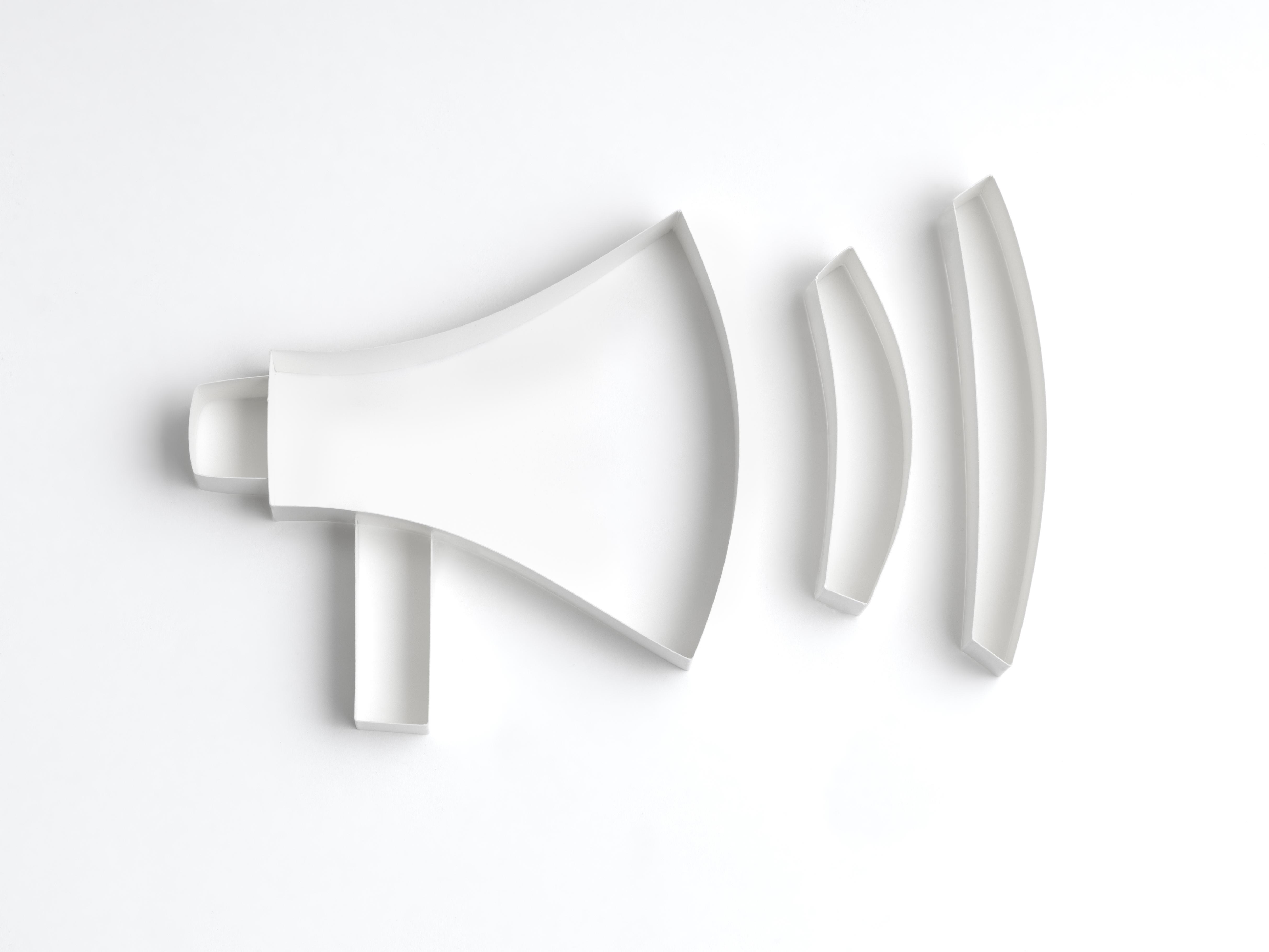 Origami megaphone