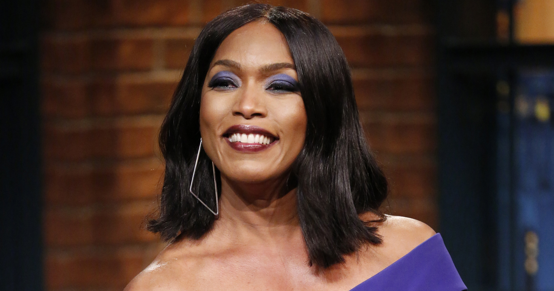 Angela Bassett during an interview on Late Night with Seth Meyers on Feb. 25, 2016 in New York City.