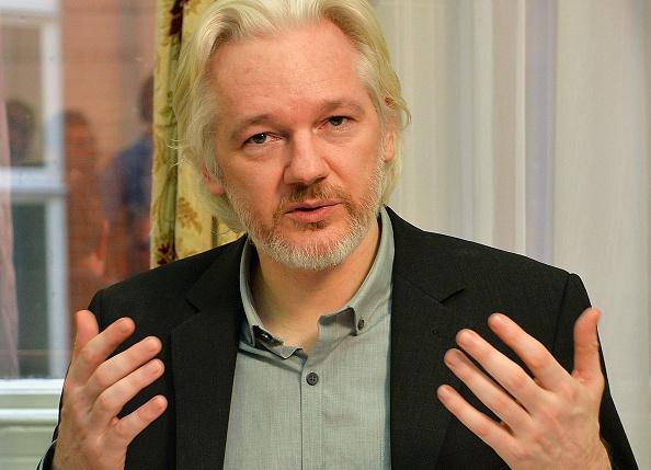 Julian Assange within the Ecuadorian Embassy in London in 2014.