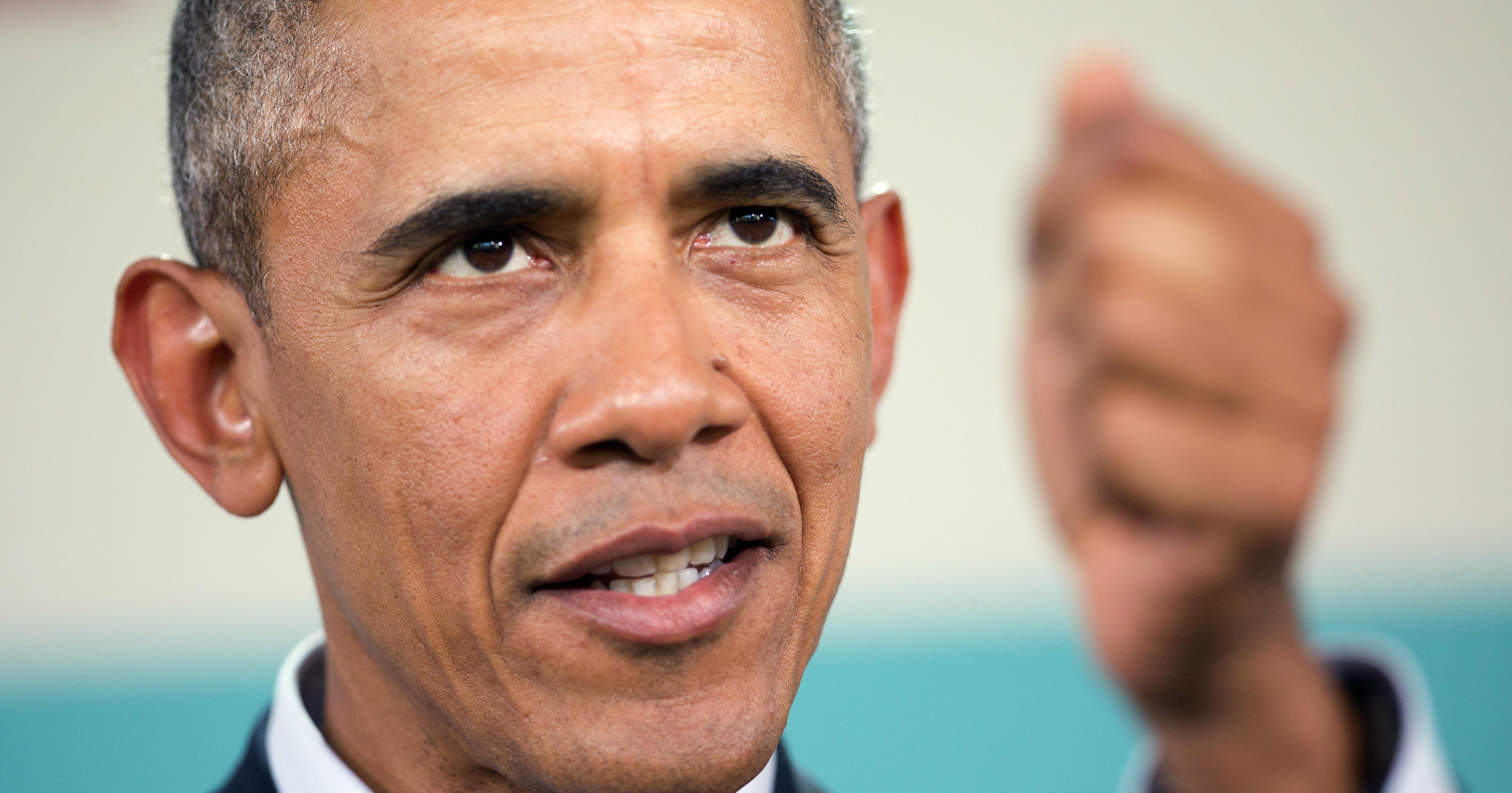 Barack Obama speaks in Rancho Mirage, Calif. on Feb. 16, 2016.