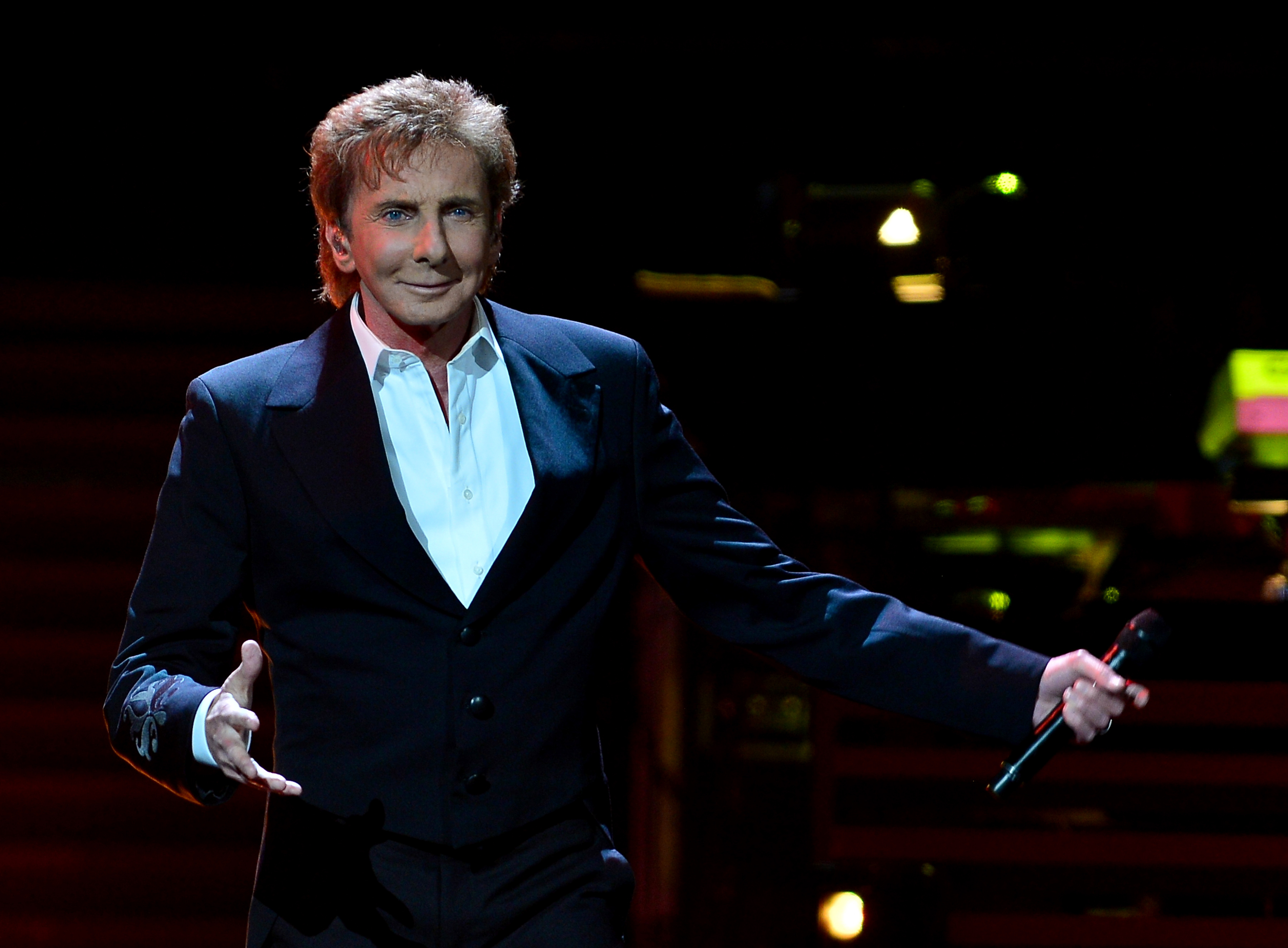 Barry Manilow performs during his One Last Time. at BB&T Center  in Sunrise, Fl. on Feb. 5, 2016.