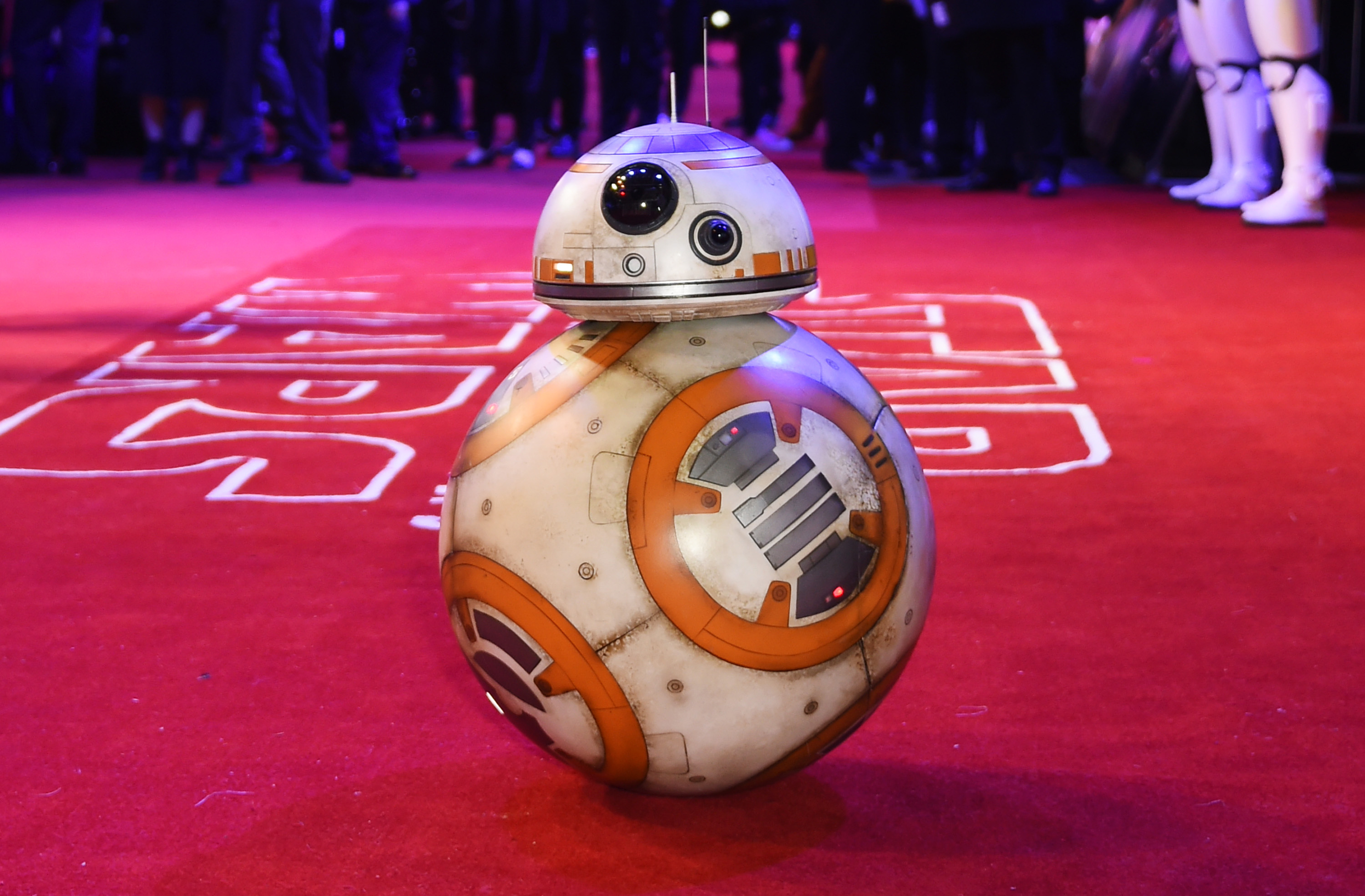Droid BB-8 attends the European Premiere of  Star Wars: The Force Awakens  on December 16, 2015 in London, England.