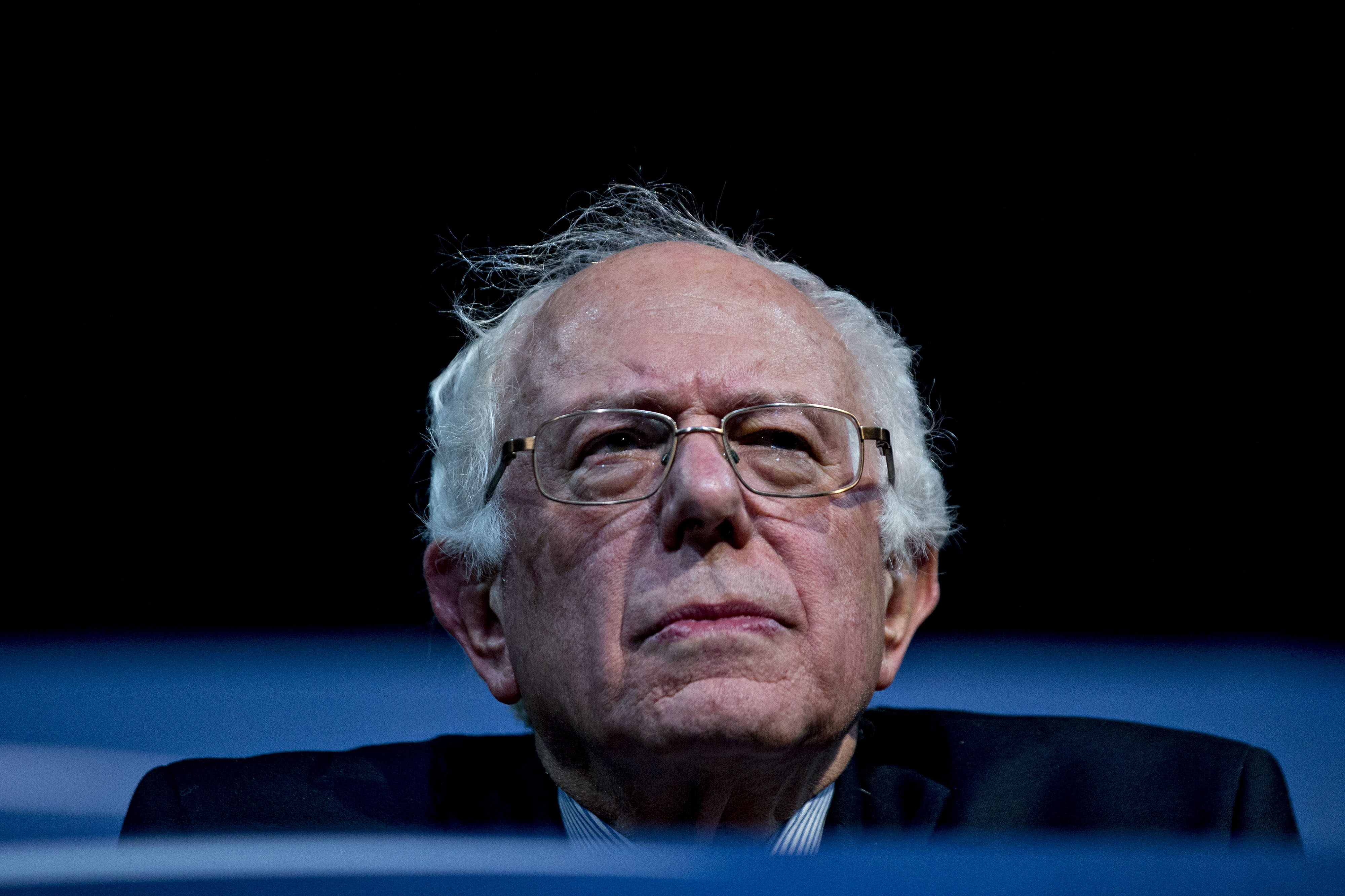 Bernie Sanders during a campaign concert and rally in Henderson, Nevada on Feb. 19, 2016.