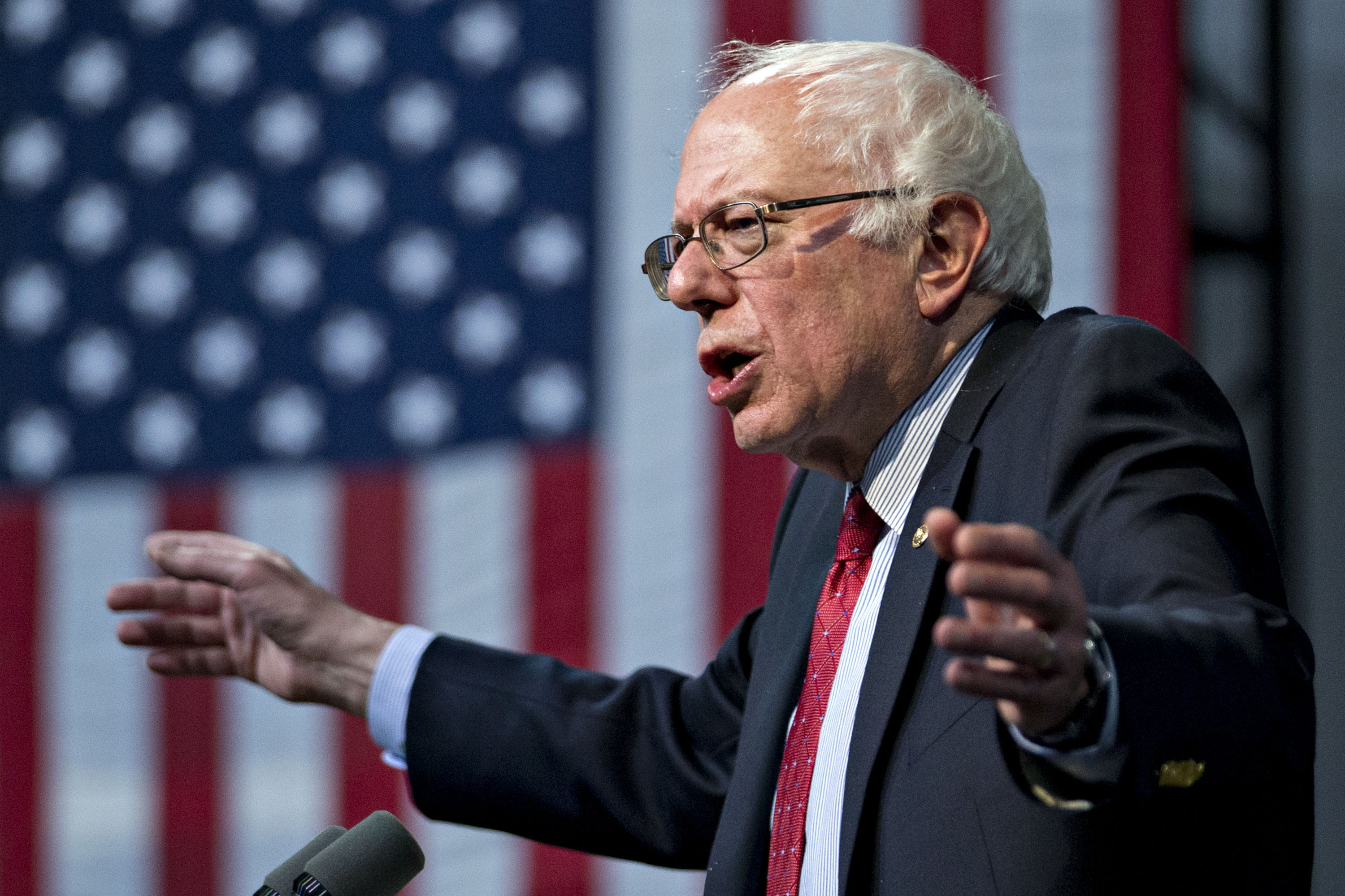 Bernie Sanders during a campaign concert and rally in Henderson, Nevada, on Feb. 19, 2016.
