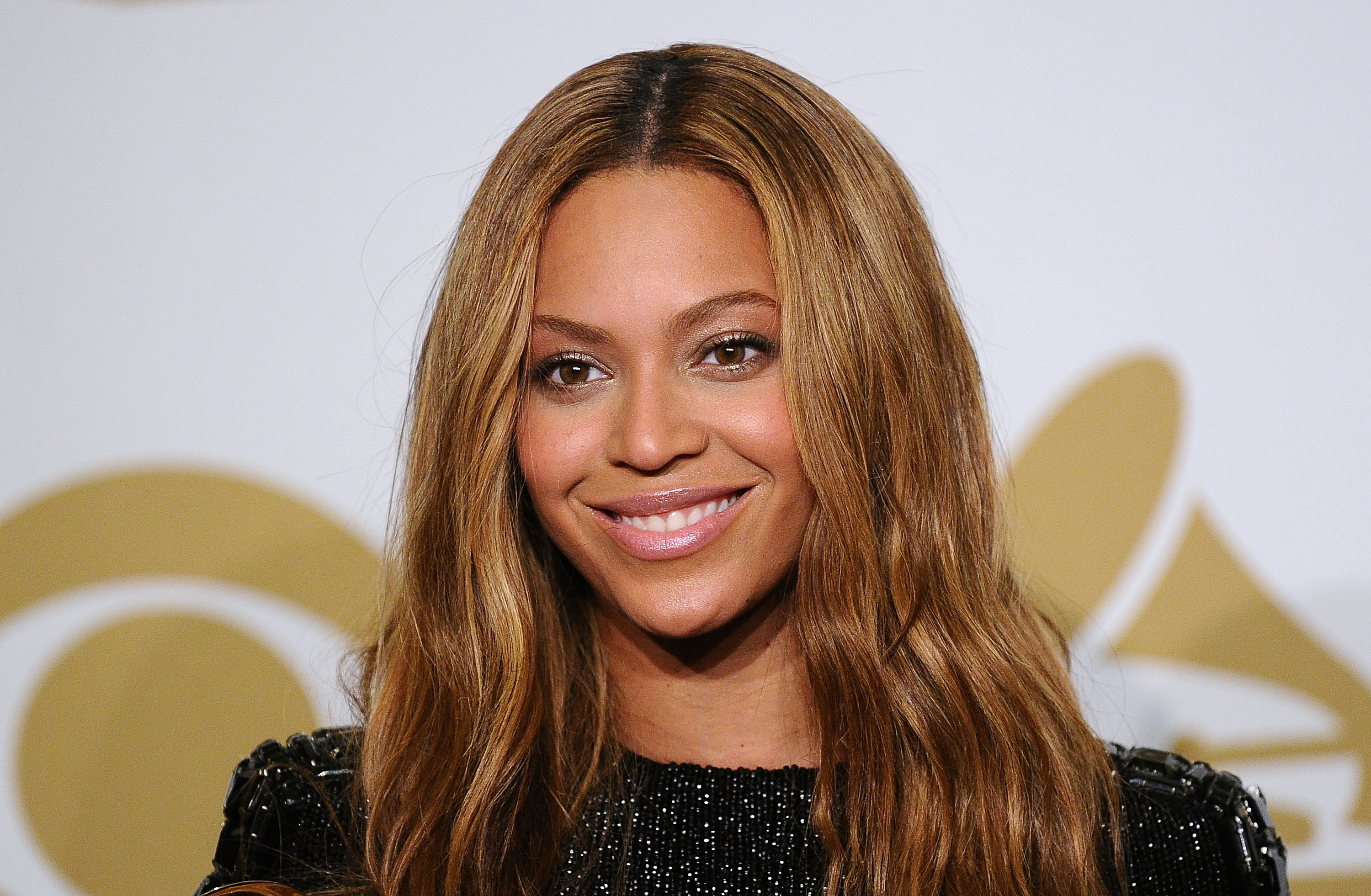 Beyonce poses in the press room at the 57th GRAMMY Awards in Los Angeles, CA on Feb. 8, 2015.