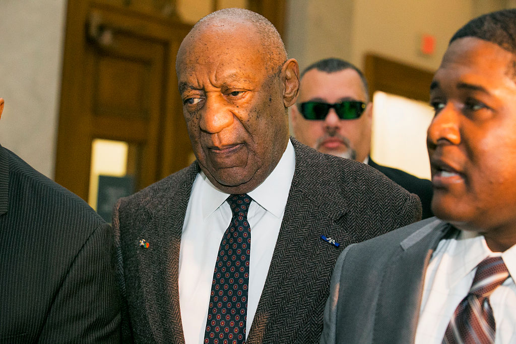 Bill Cosby at the Montgomery County Courthouse in Pennsylvania, where a judge denied a motion to have the case against him dismissed on Wednesday.