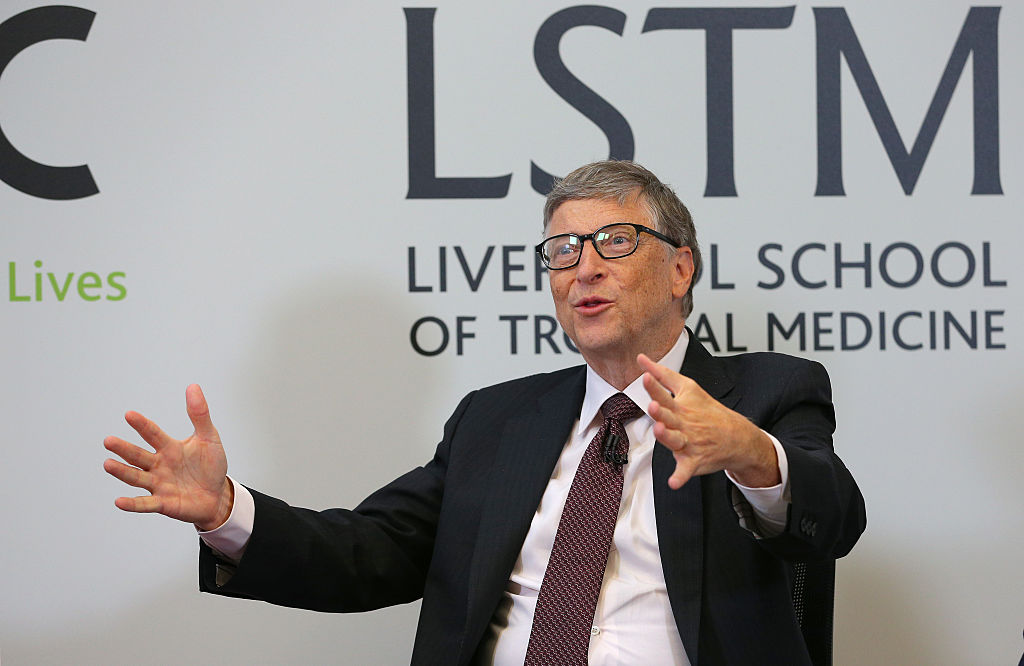 Co-founder of Microsoft Bill Gates during a visit to the Liverpool School of Tropical Medicine in Liverpool, England, on  Jan. 25.