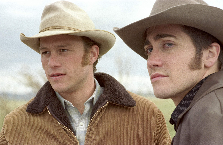 Heath Ledger and Jake Gyllenhaal in Brokeback Mountain.