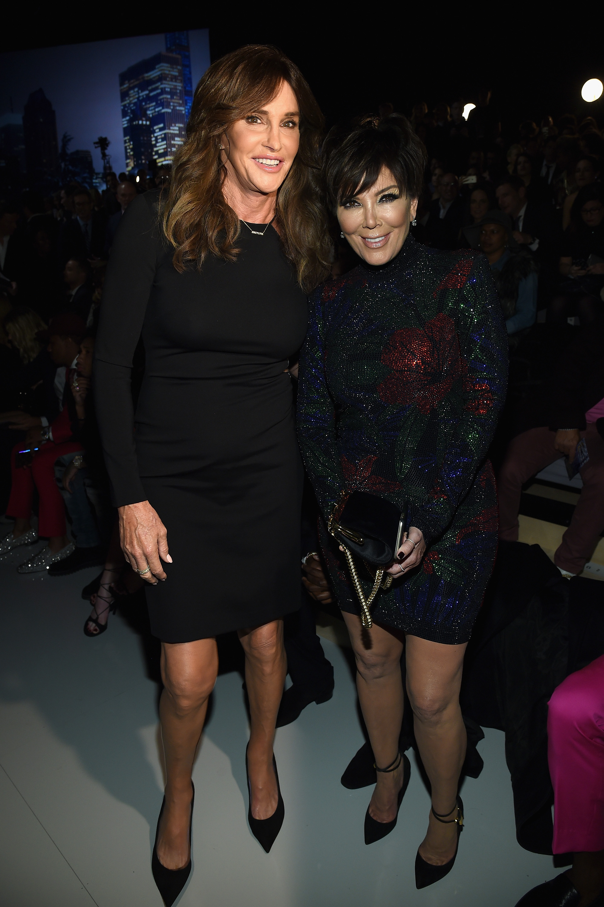 Caitlyn Jenner and Kris Jenner attend the 2015 Victoria's Secret Fashion Show at Lexington Avenue Armory on Nov. 10, 2015 in New York City.