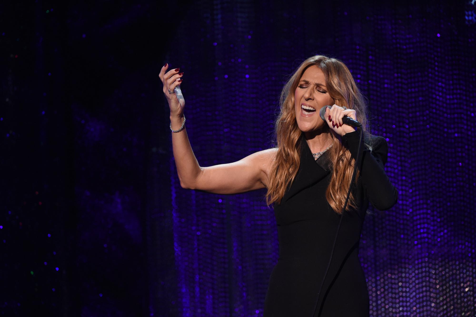 Celine Dion performs in Las Vegas, on Dec. 6, 2015.