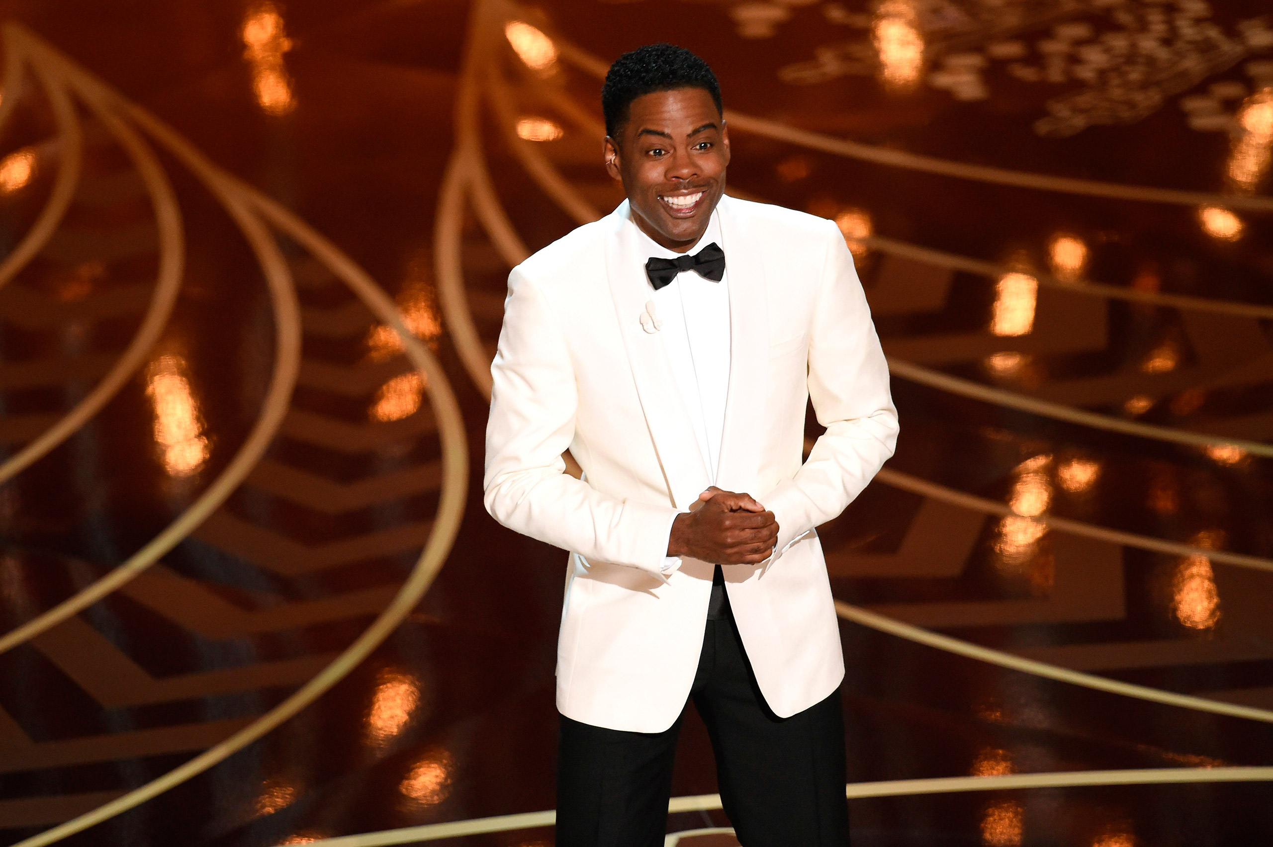 Chris Rock speaks onstage during the 88th Annual Academy Awards at the Dolby Theatre in Hollywood, Calif, Feb. 28, 2016. Kevin Winter—Getty Images