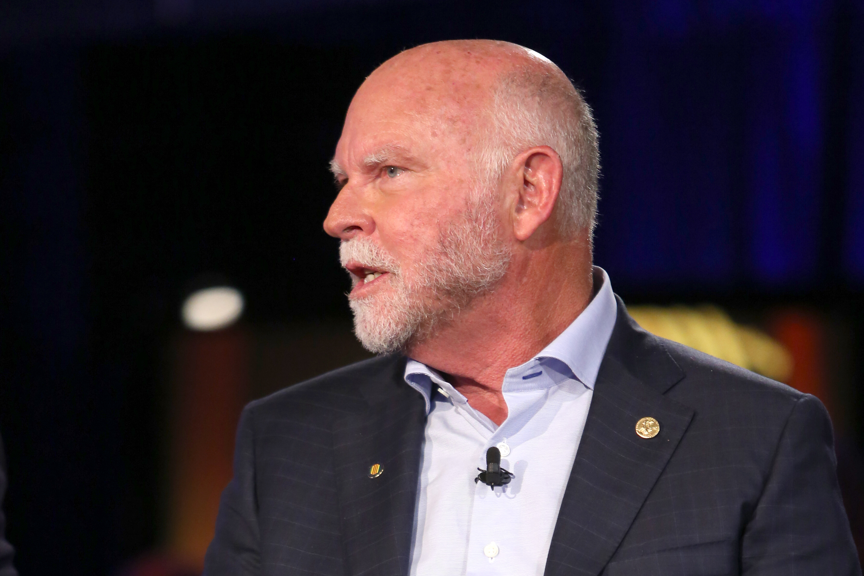 Craig Venter discusses human genome mapping and its impact on healthcare, in New York City on Sept. 29, 2015.