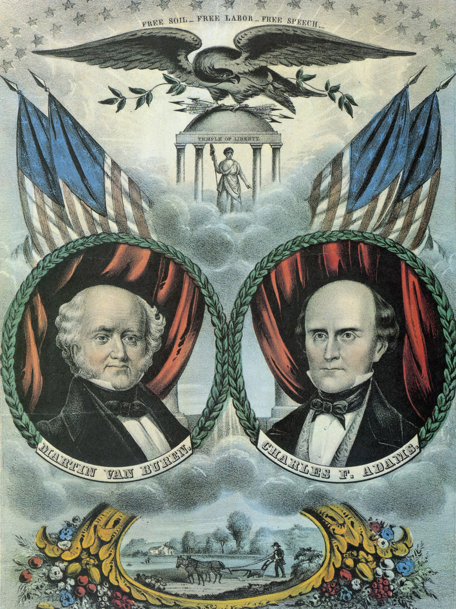 Grand Democratic Free Soil Banner. Nathaniel Currier, 1848.