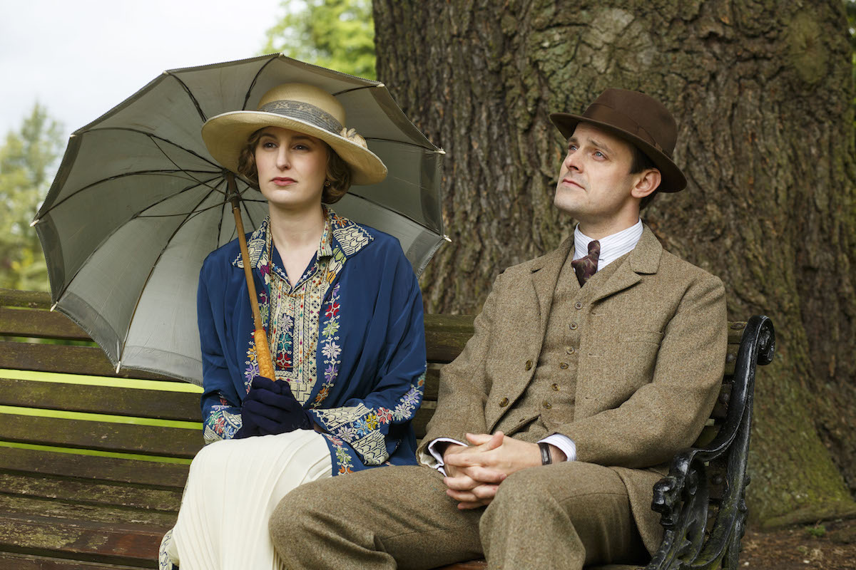 Laura Carmichael as Lady Edith and Harry Hadden-Paton as Bertie Pelham on 'Downton Abbey'
