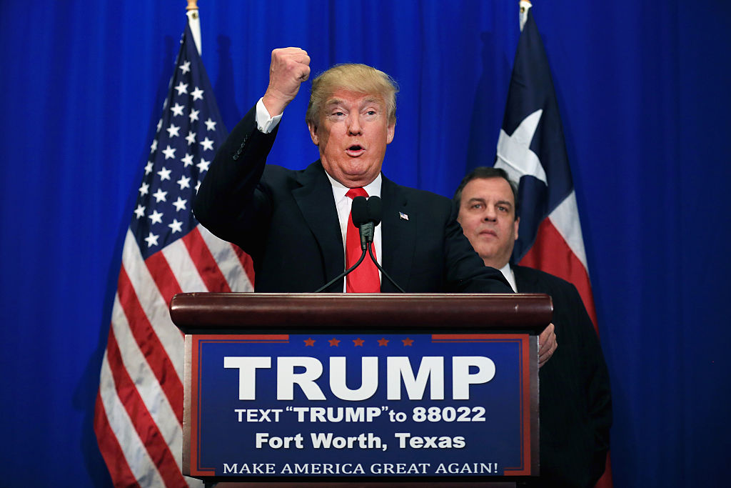 Republican presidential candidate Donald Trump is pictured in Fort Worth, Texas, Feb. 26, 2016.