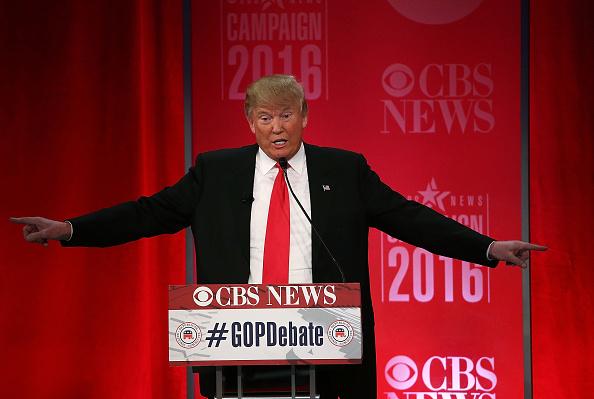 Republican presidential candidate Donald Trump participates in a CBS News GOP Debate Feb.13, in Greenville, S.C.