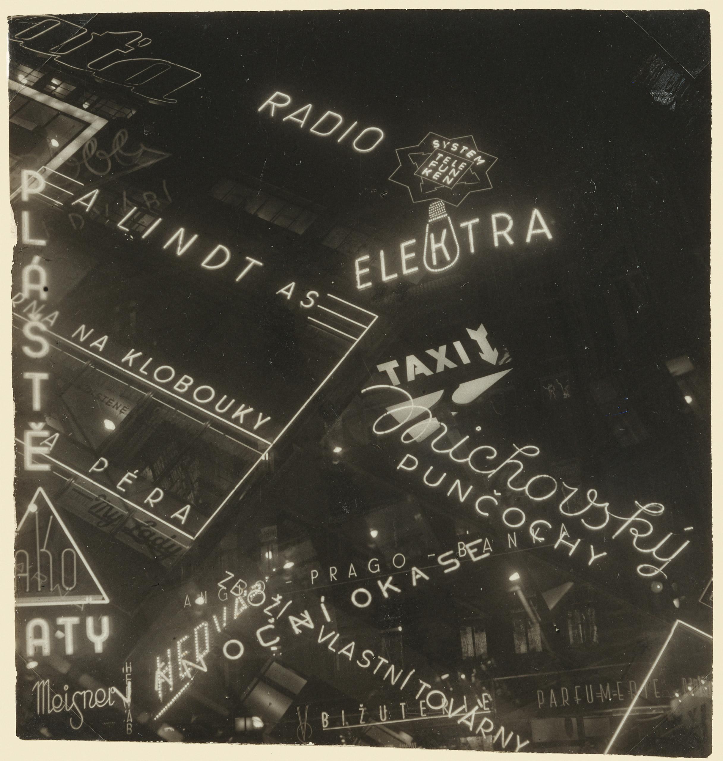 [Neon Signs], 1930 - 1939Miloslava Rupesová / The J. Paul Getty Museum, Los Angeles