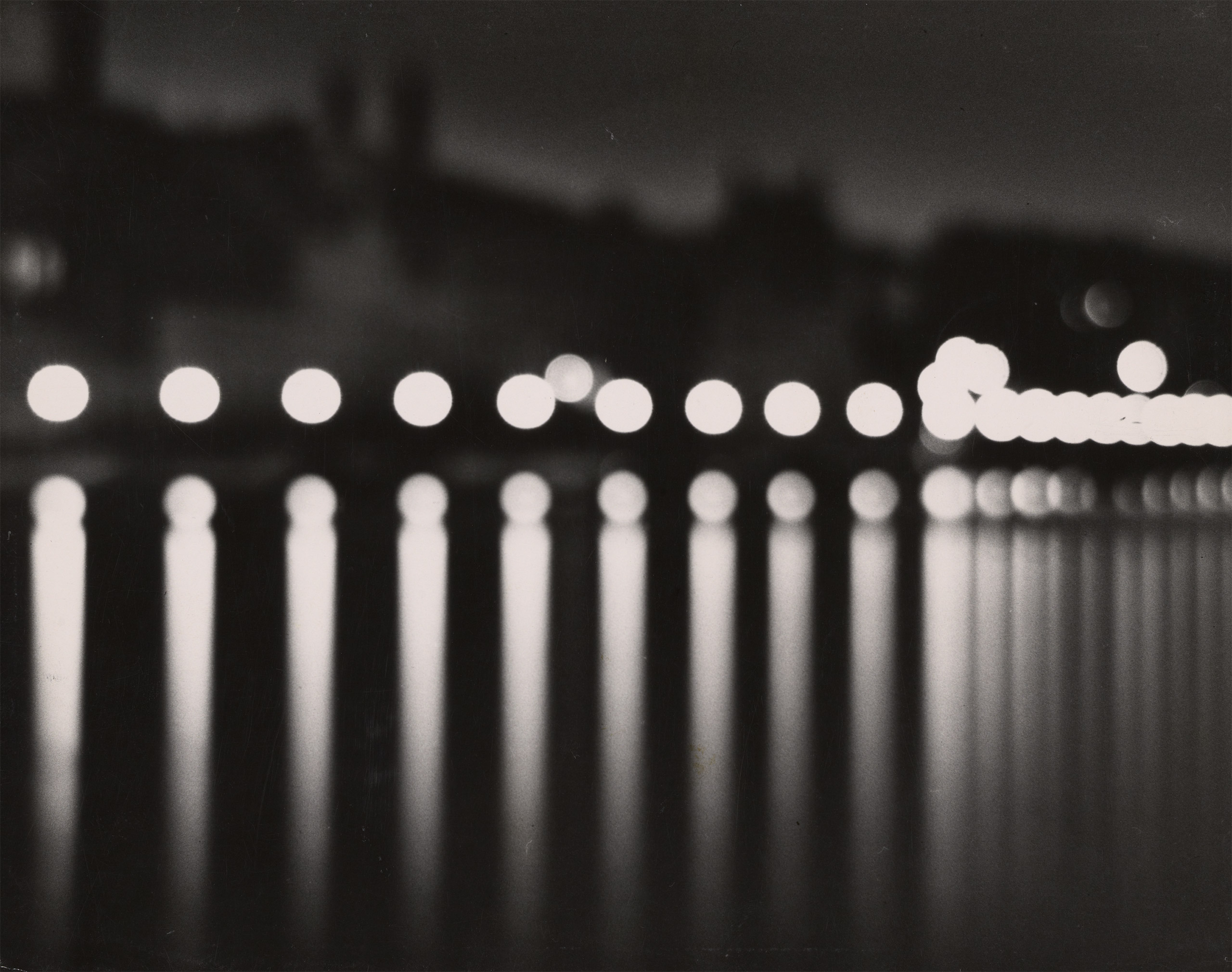 Stockholm (at night with circular lights), 1937© Estate of Gertrud E. Feininger / The J. Paul Getty Museum, Los Angeles, Gift of the Estate of Gertrud E.                               (Wysse) Feininger