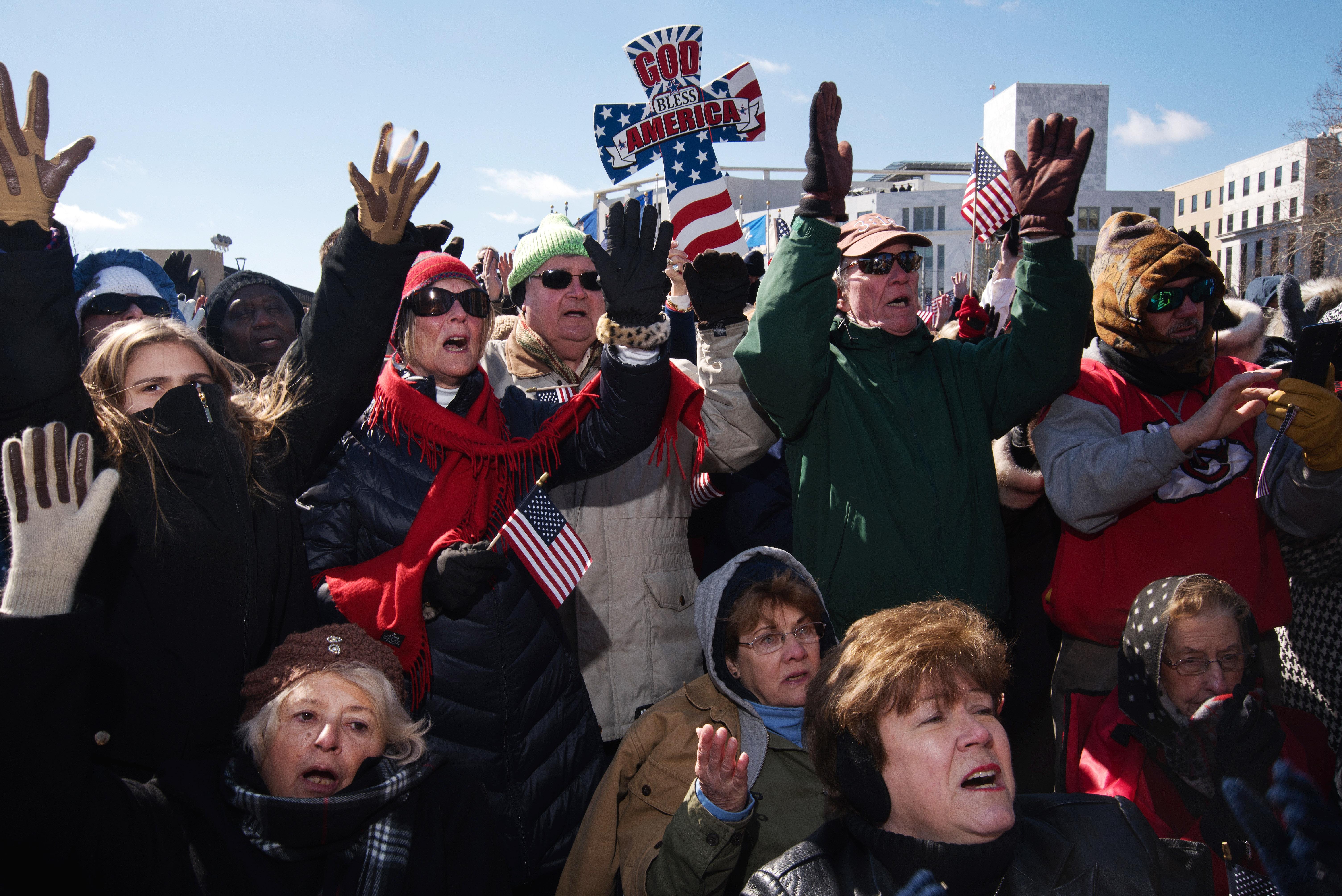 Evangelist Franklin Graham speaks to attendees during a rally in Atlanta on Feb. 10, 2016.