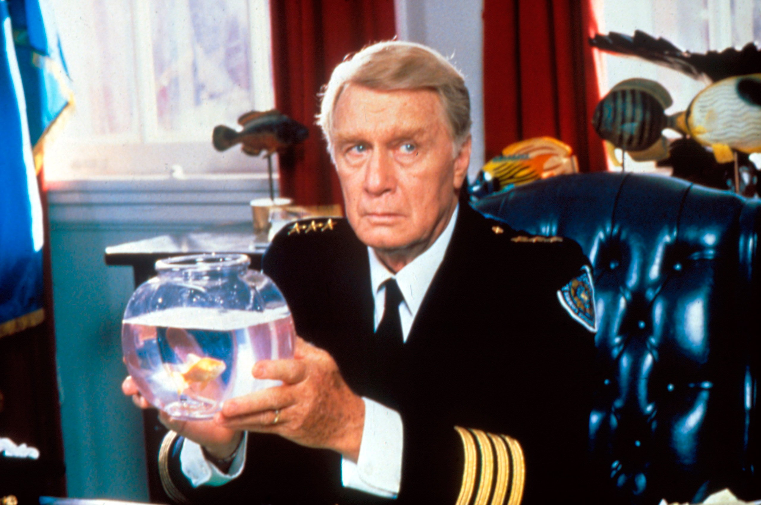 George Gaynes in Police Academy 5: Assignment Miami Beach.