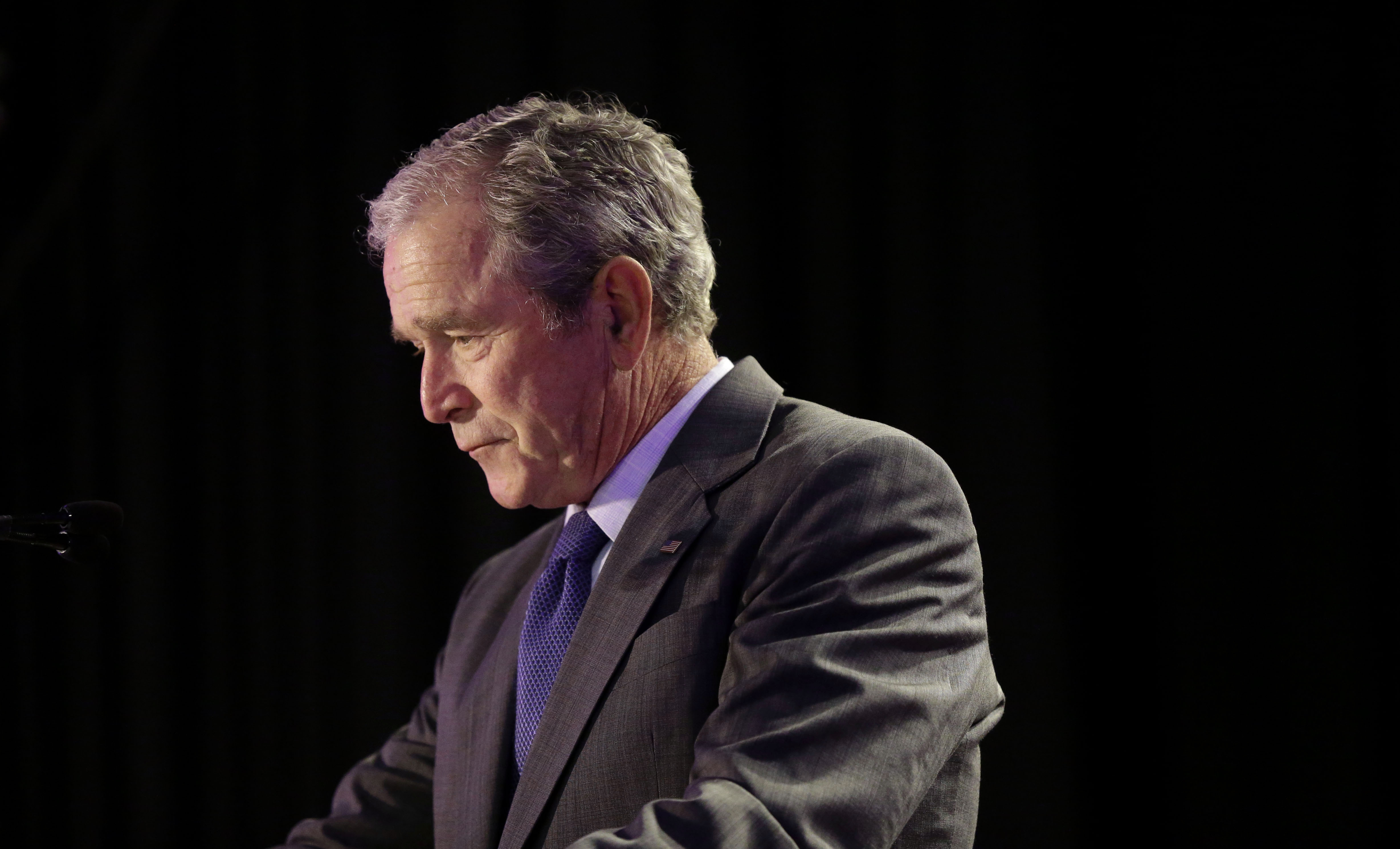 George W. Bush in New Orleans, on Aug. 28, 2015.