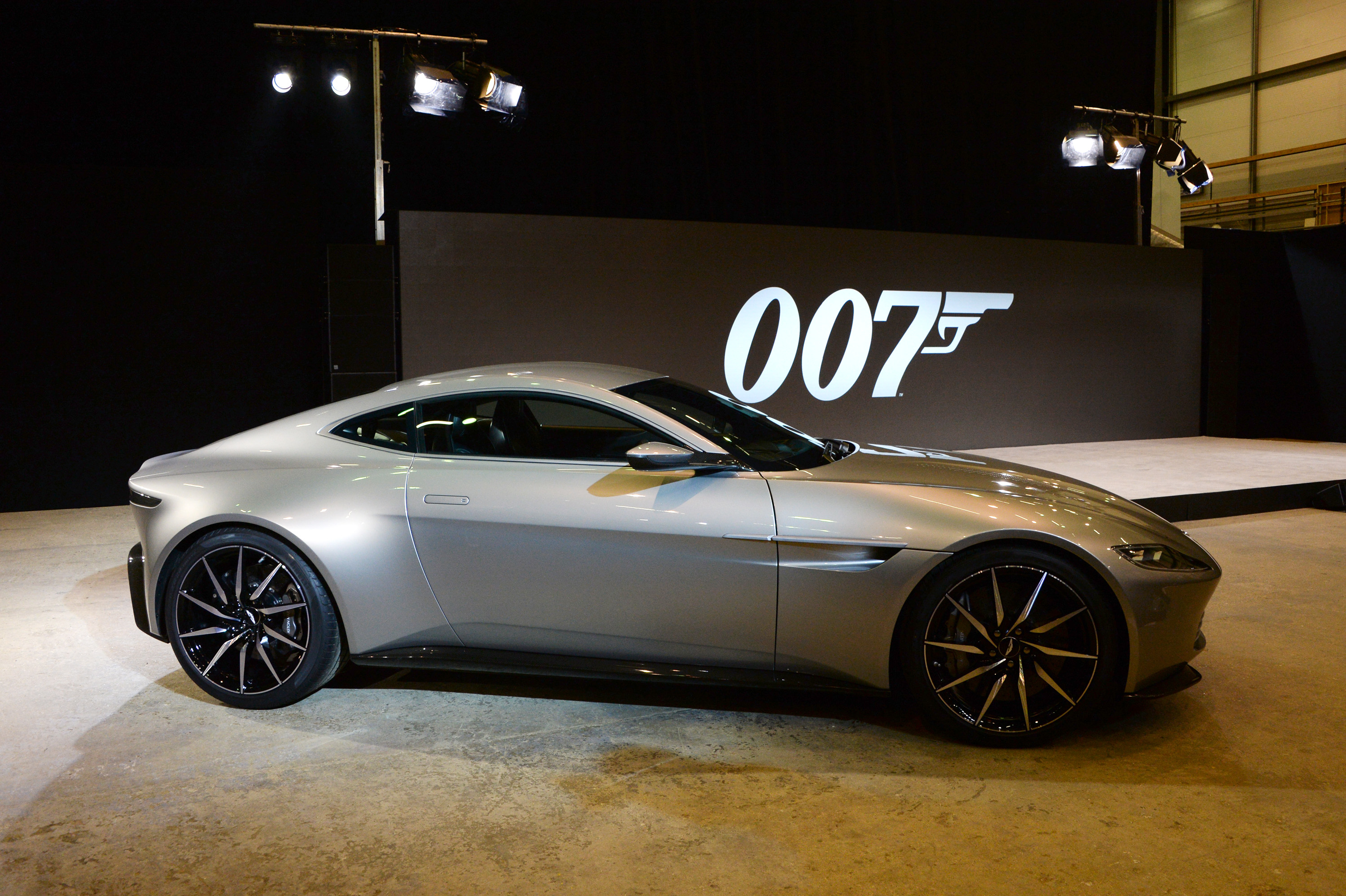 An Aston Martin DB10, designed for the 2015 James Bond film Spectre