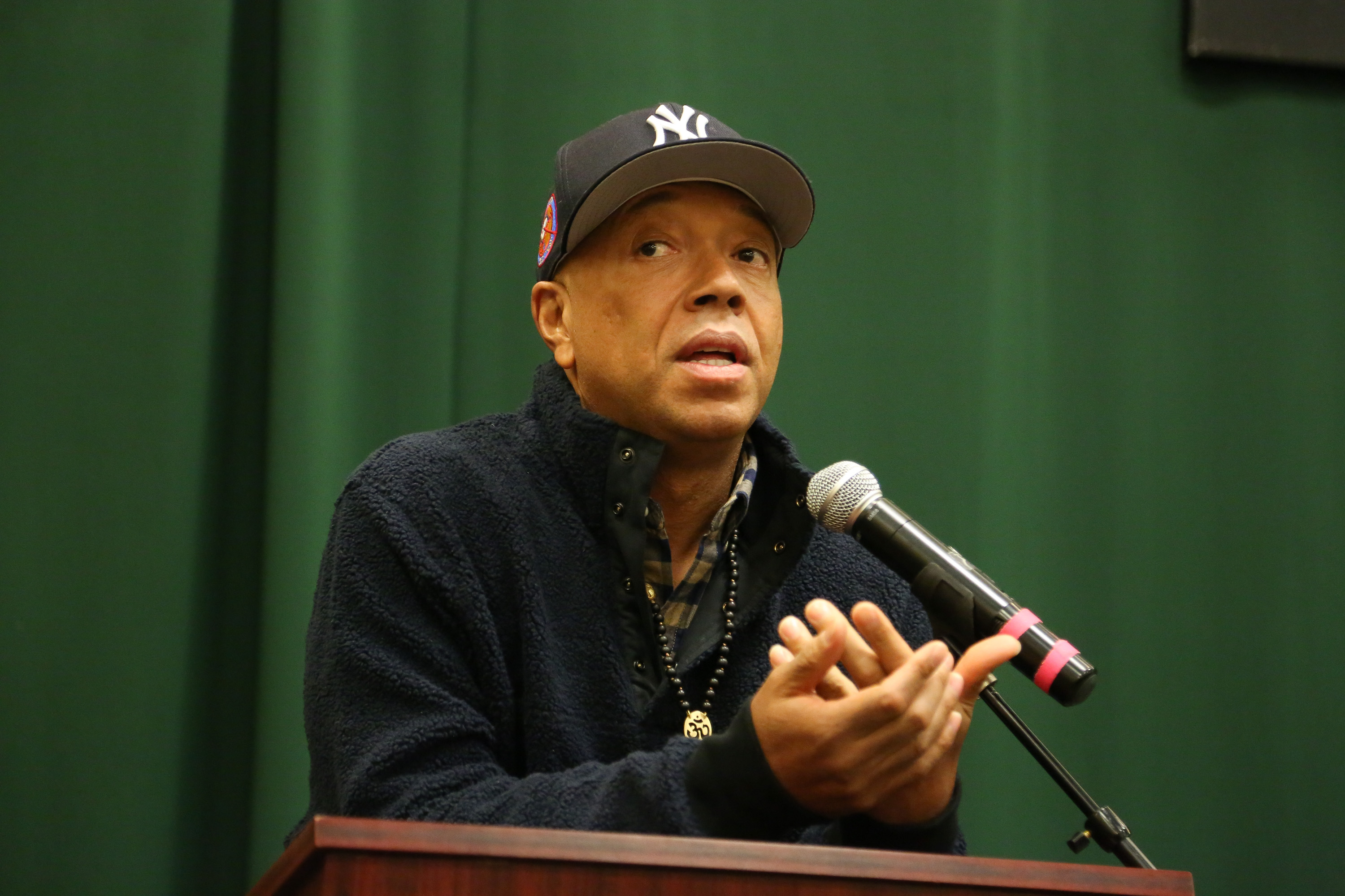 Russell Simmons promotes his new book,  The Happy Vegan: A Guide To Living A Long, Healthy, and Successful Life,   Jan. 12, 2016 in New York City