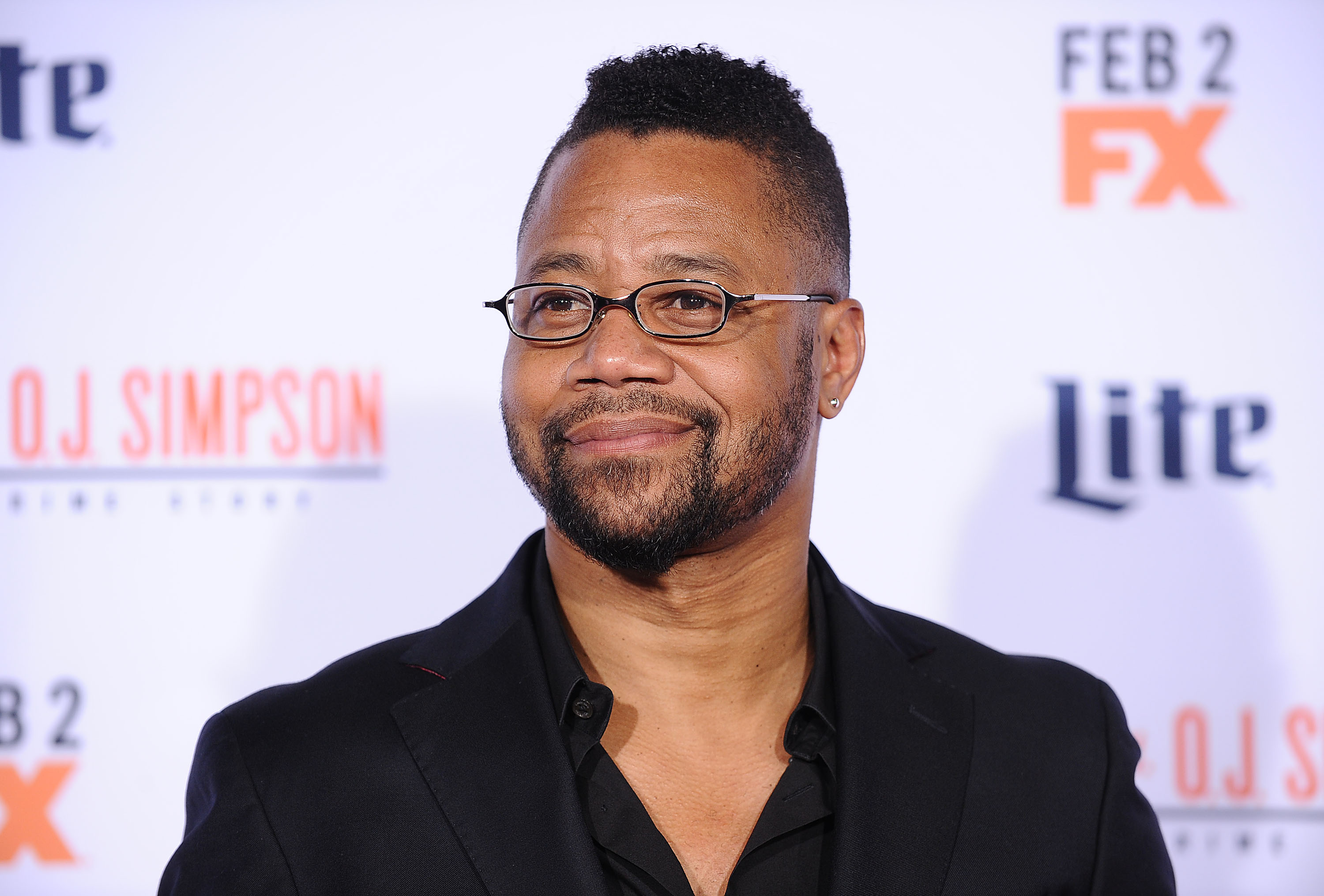 Actor Cuba Gooding Jr. attends the premiere of  American Crime Story - The People V. O.J. Simpson  on Jan. 27, 2016 in Westwood, Calif.