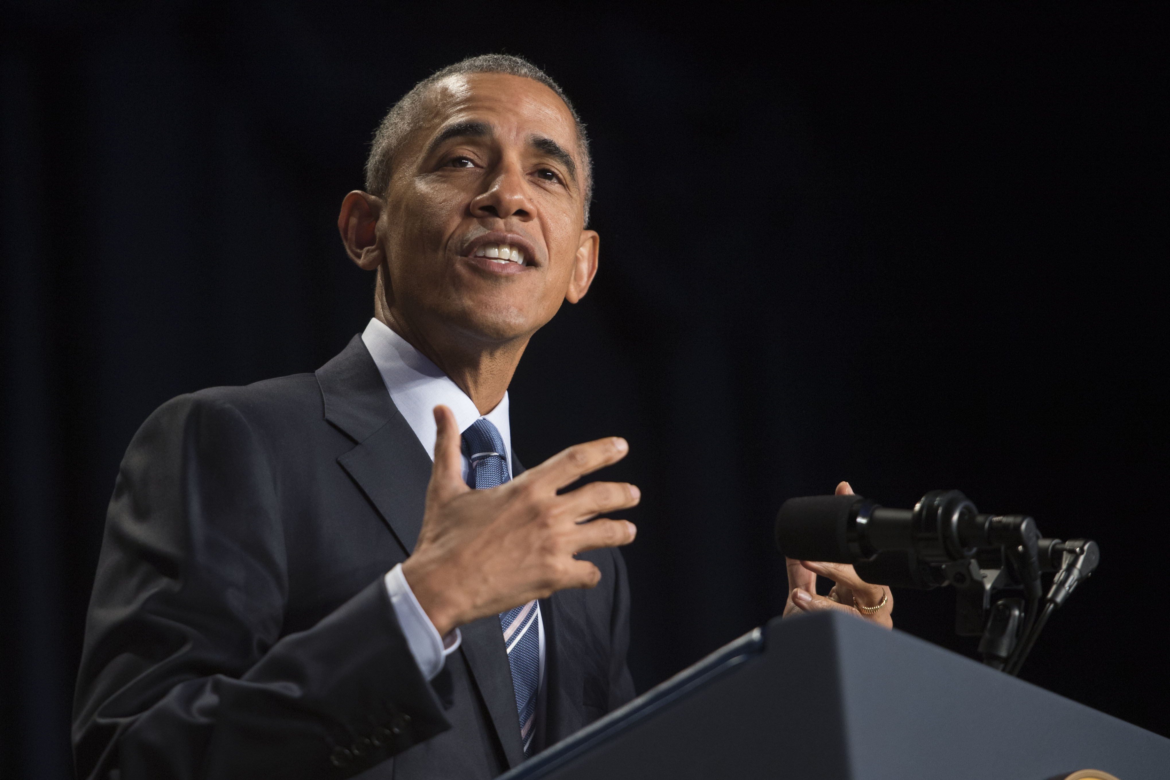 U.S. President Barack Obama delivers remarks at the National Prayer Breakfast on Feb. 4, 2016 in Washington, DC