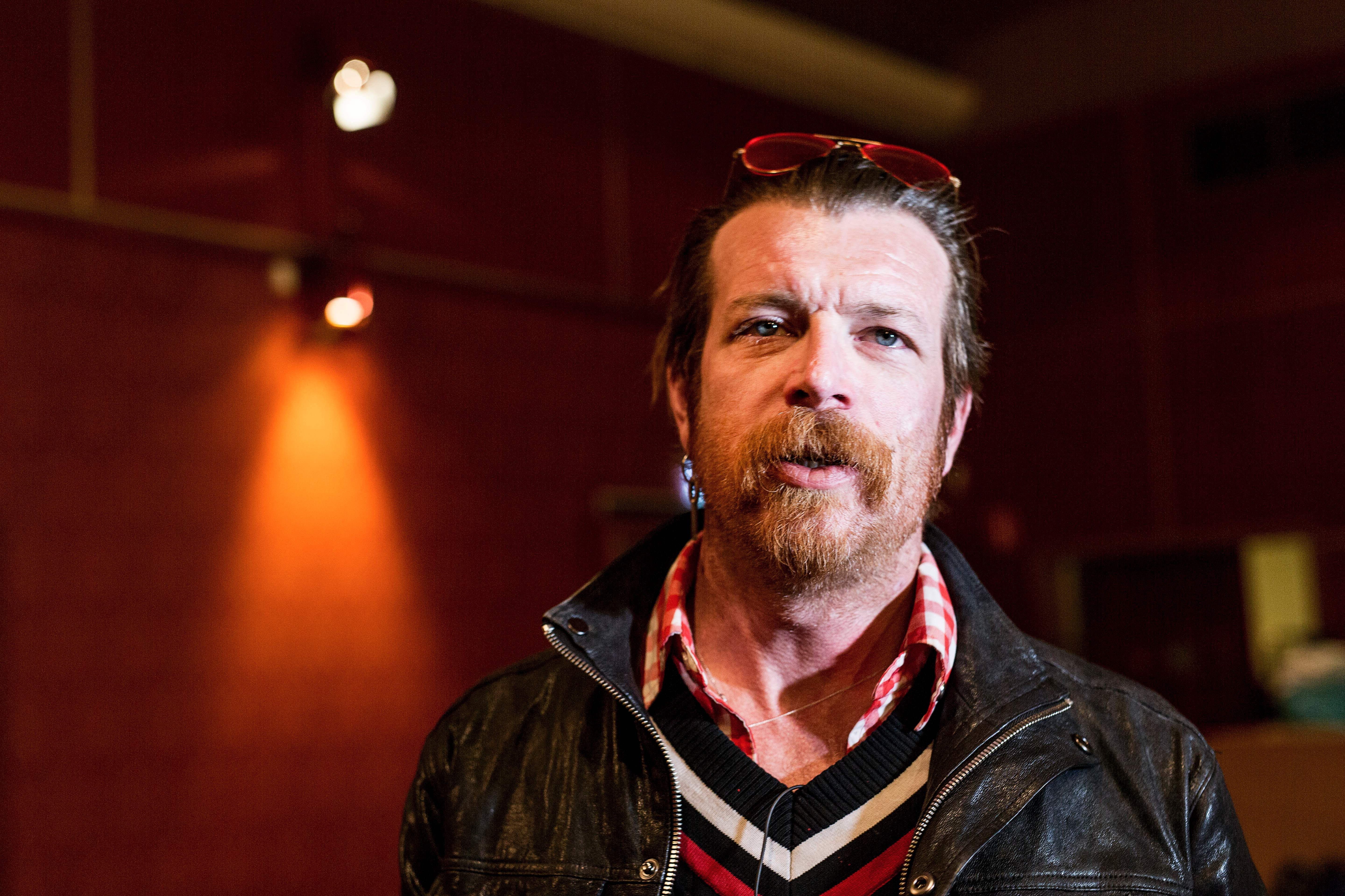 Jesse Hughes, the singer of the American band  Eagles of Death Metal  is seen during an interview with AFP in Stockholm on Feb. 13, 2016.