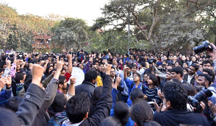 JNU Teachers, Students Protest Against Random Arrests, Demand Release Of JNUSU President