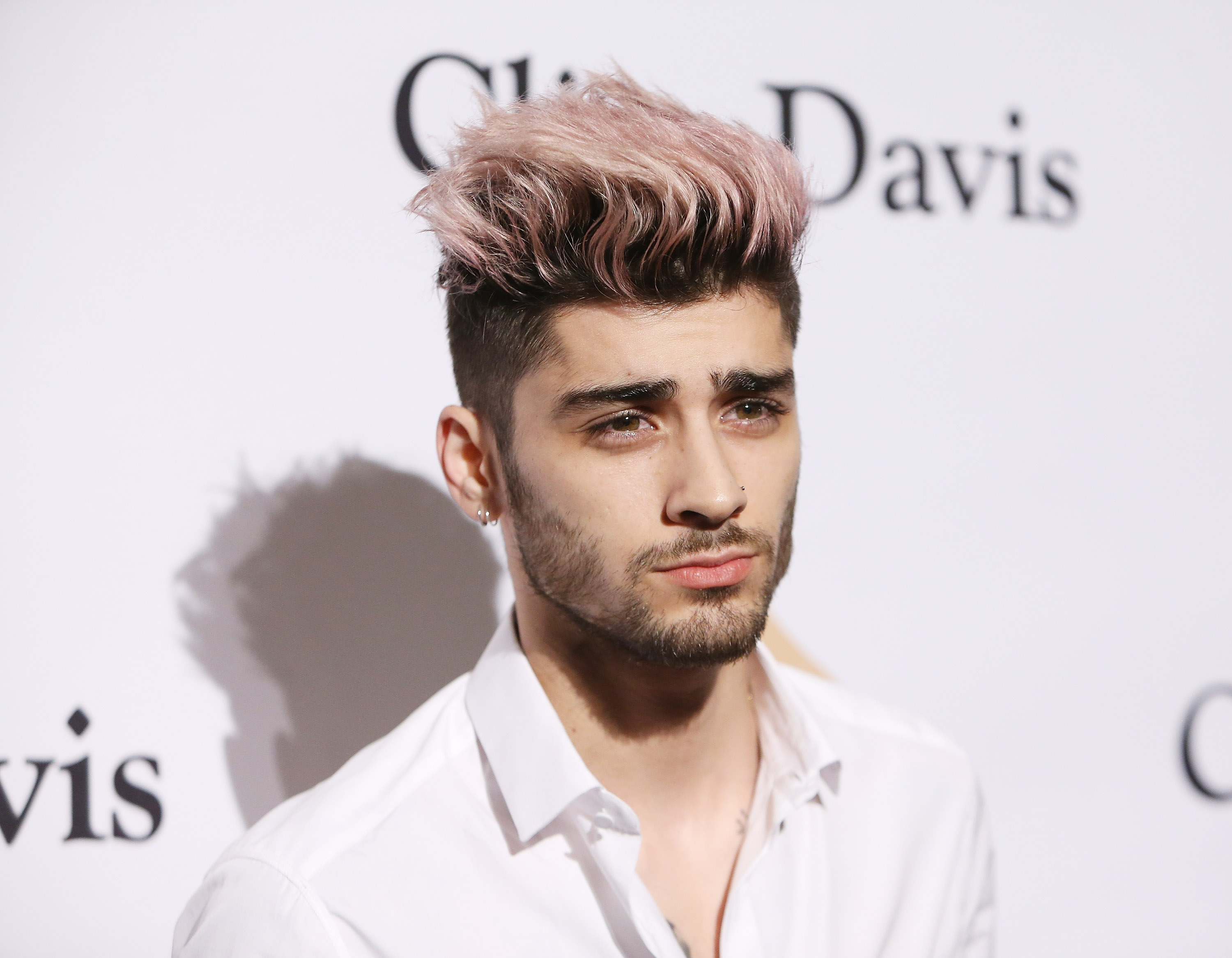 Zayn Malik arrives at the 2016 Pre-GRAMMY Gala and Salute to Industry Icons honoring Irving Azoff held at The Beverly Hilton Hotel on February 14, 2016 in Beverly Hills, California.