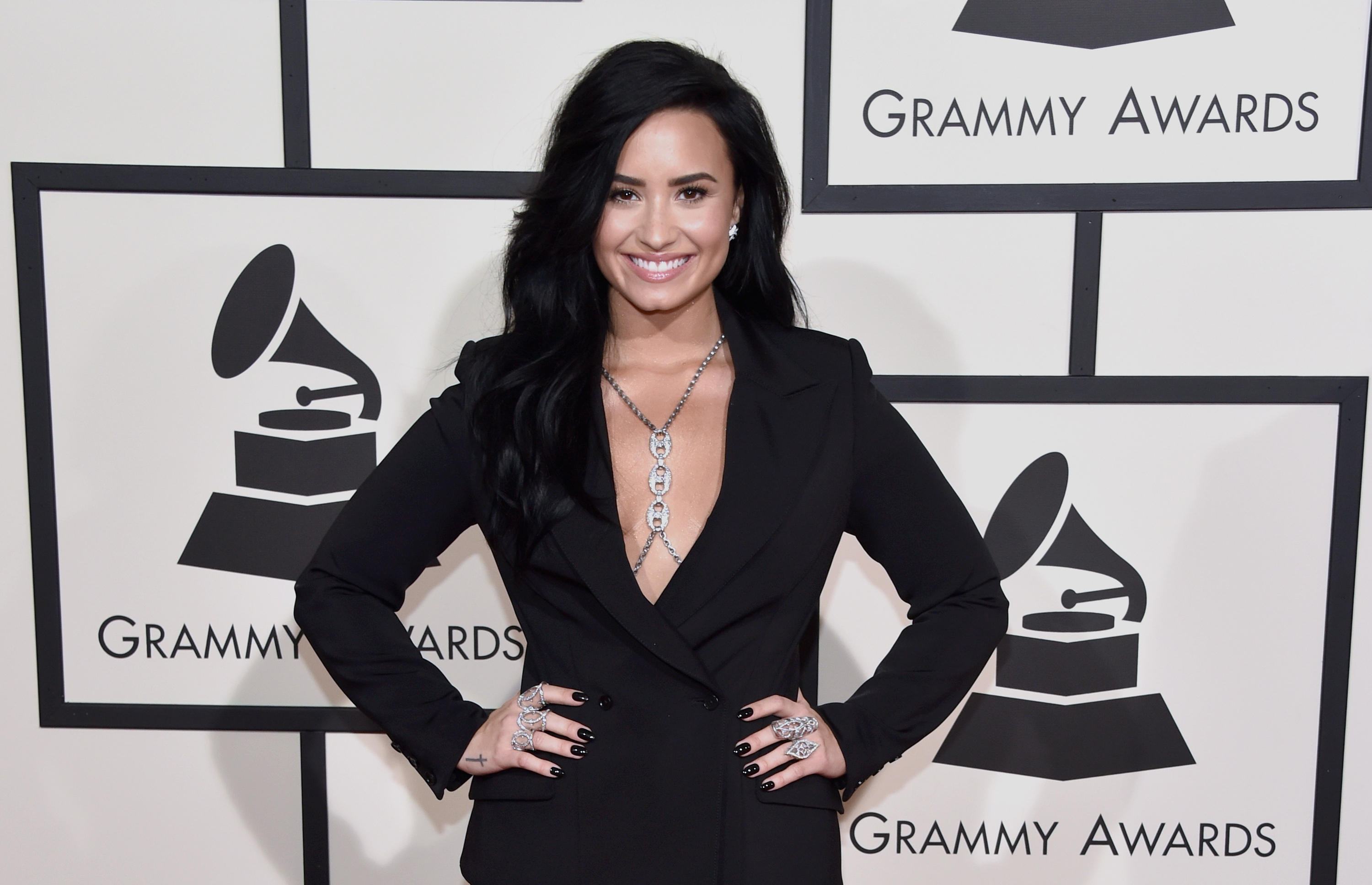 Recording artist Demi Lovato attends The 58th Grammy Awards on Feb. 15, 2016 in Los Angeles, Calif.