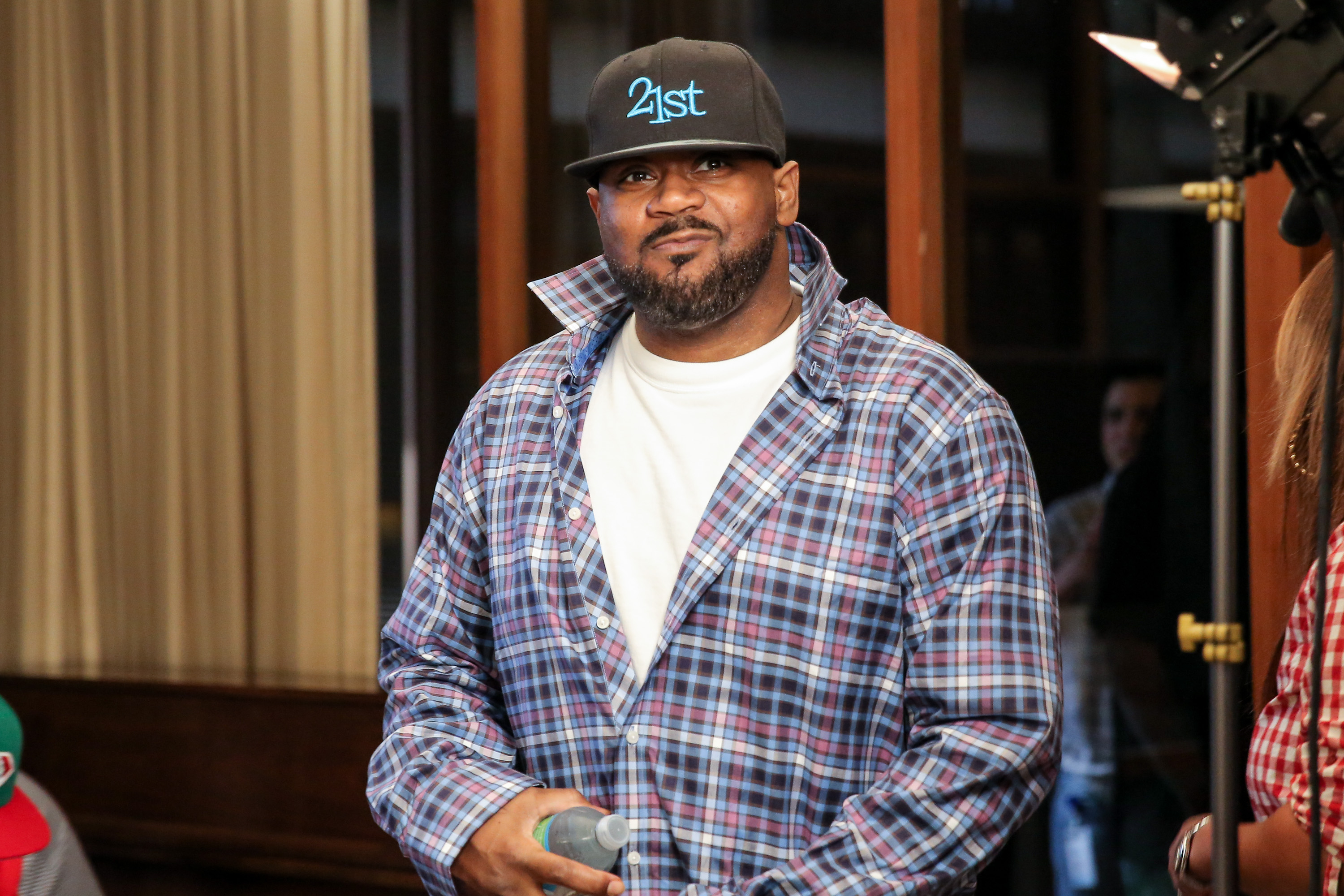 Rapper Ghostface Killah of the Wu-Tang Clan attends a press conference to announce that the Wu-Tang Clan has signed with Warner Bros.
