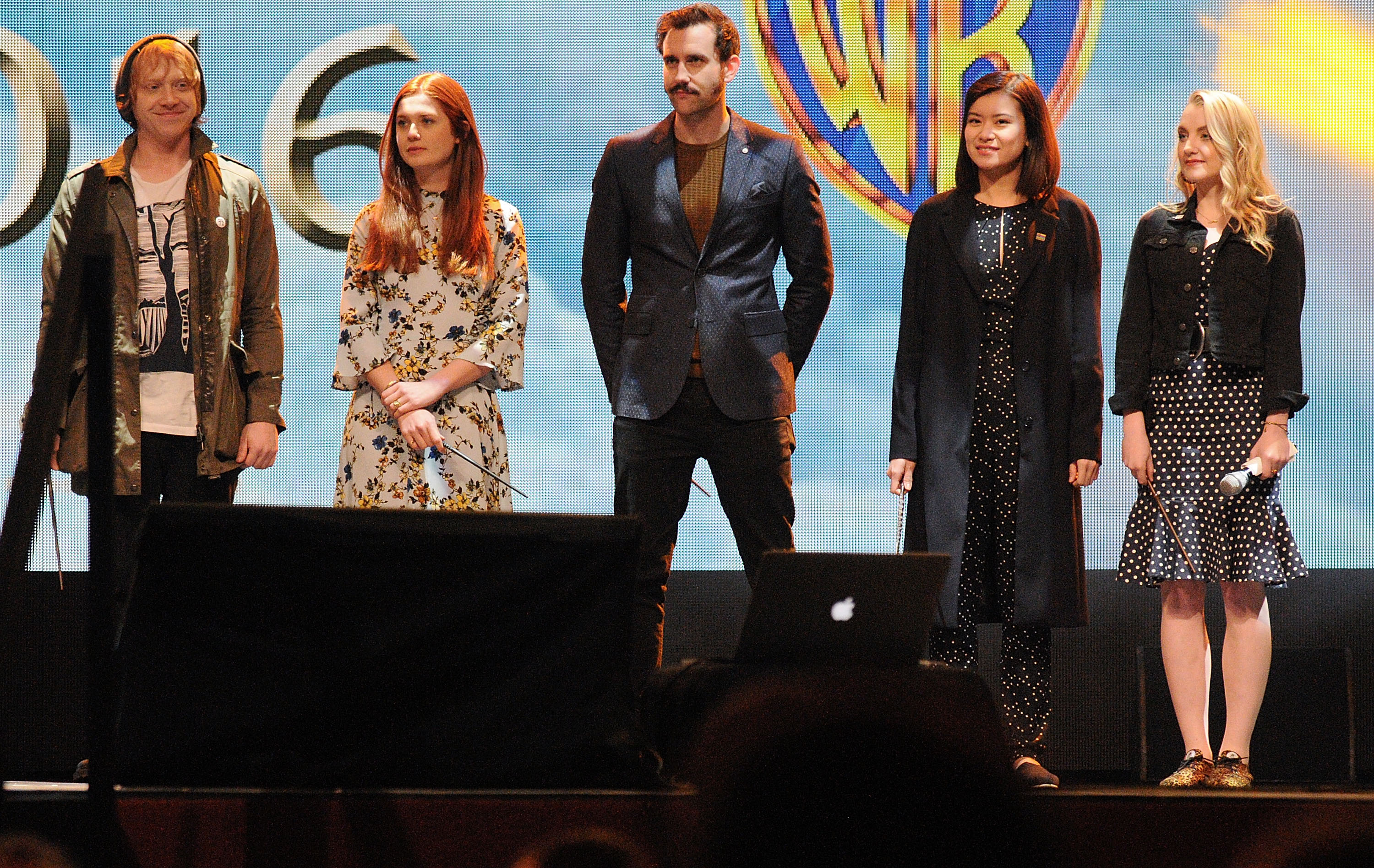 Harry Potter' cast members (L-R) Rupert Grint, Bonnie Wright, Matthew Lewis, Katie Leung and Evanna Lynch attend the 3rd Annual Celebration Of Harry Potter at Universal Orlando on Jan.29, 2016 in Orlando, Florida.