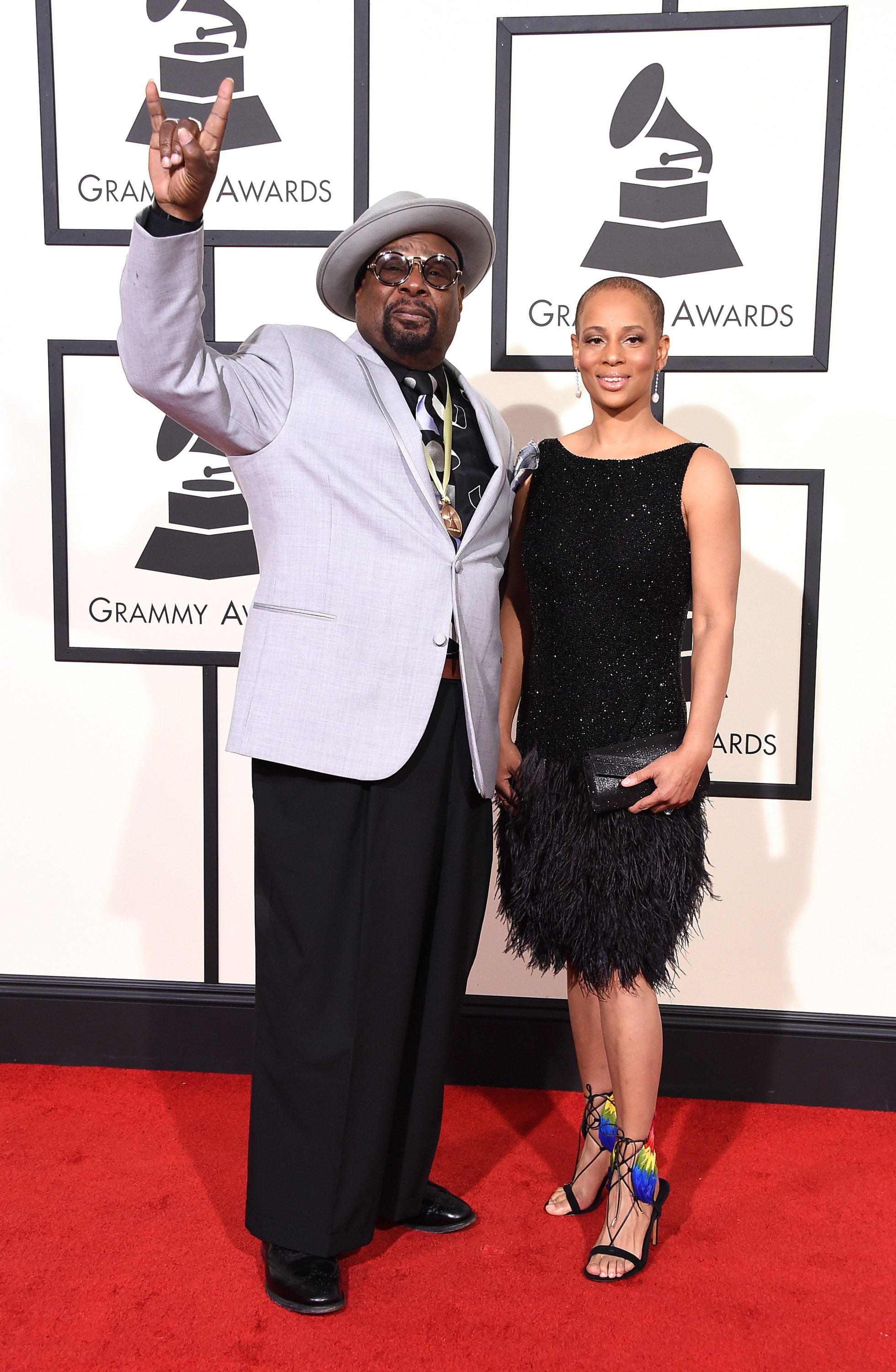 George Clinton, left, attends the 58th GRAMMY Awards at Staples Center on Feb. 15, 2016 in Los Angeles.