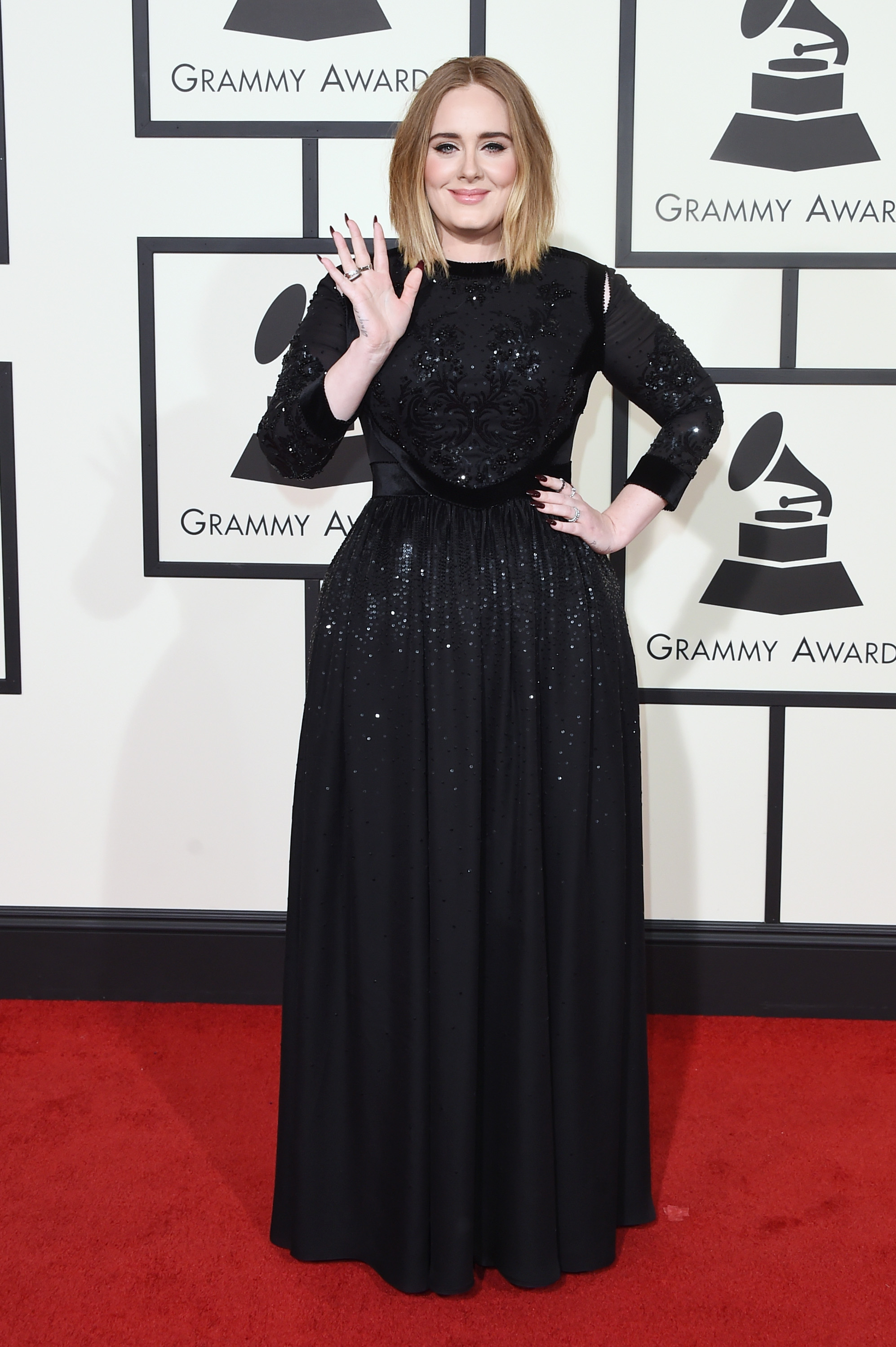 Adele attends the 58th GRAMMY Awards at Staples Center on Feb. 15, 2016 in Los Angeles.